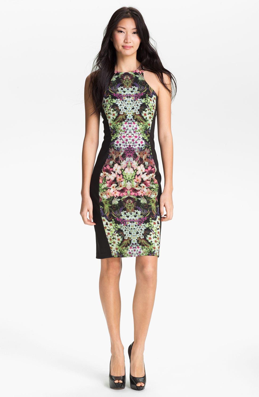 Print Sheath Dress,                             Main thumbnail 1, color,                             013