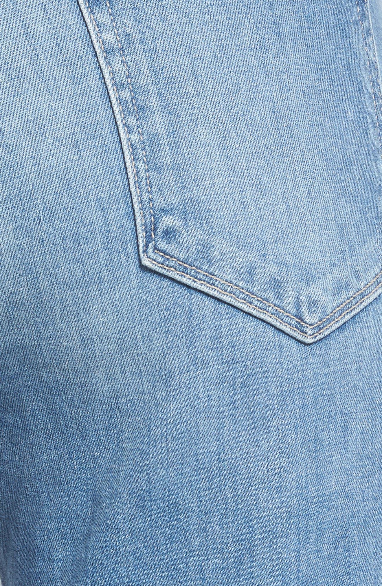 Sarah High Waist Crop Straight Leg Jeans,                             Alternate thumbnail 6, color,                             400