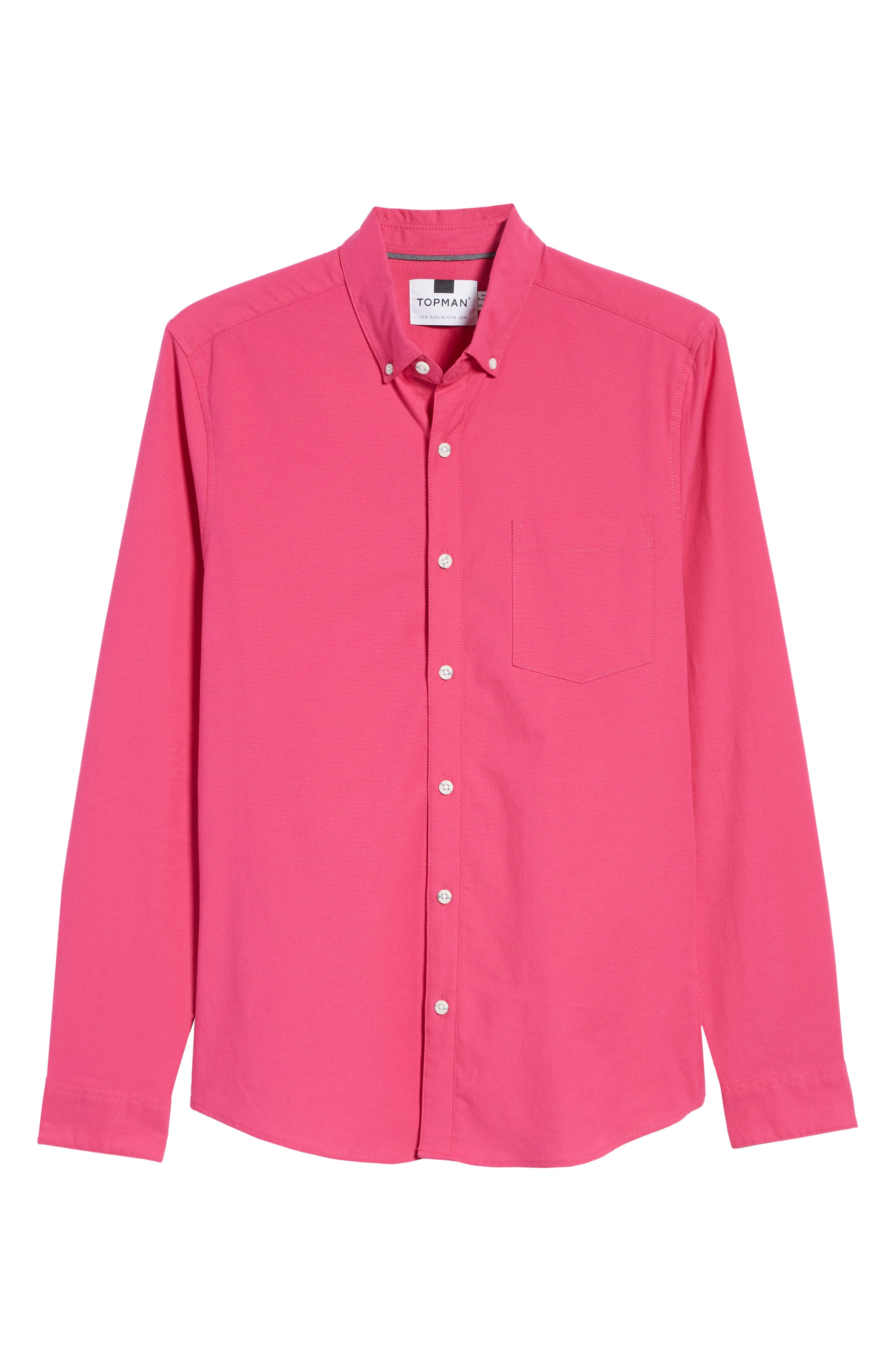 Classic Fit Oxford Shirt,                             Alternate thumbnail 5, color,                             PINK MULTI
