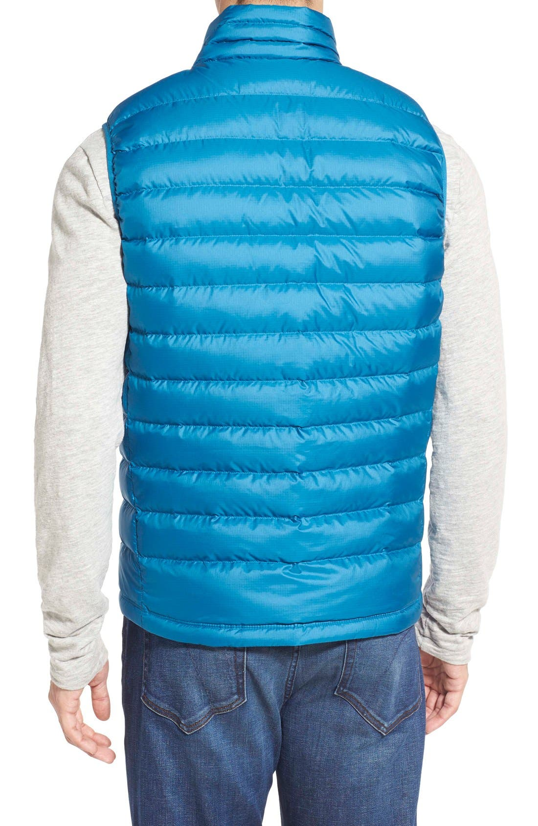 Windproof & Water Resistant 800 Fill Power Down Quilted Vest,                             Alternate thumbnail 17, color,