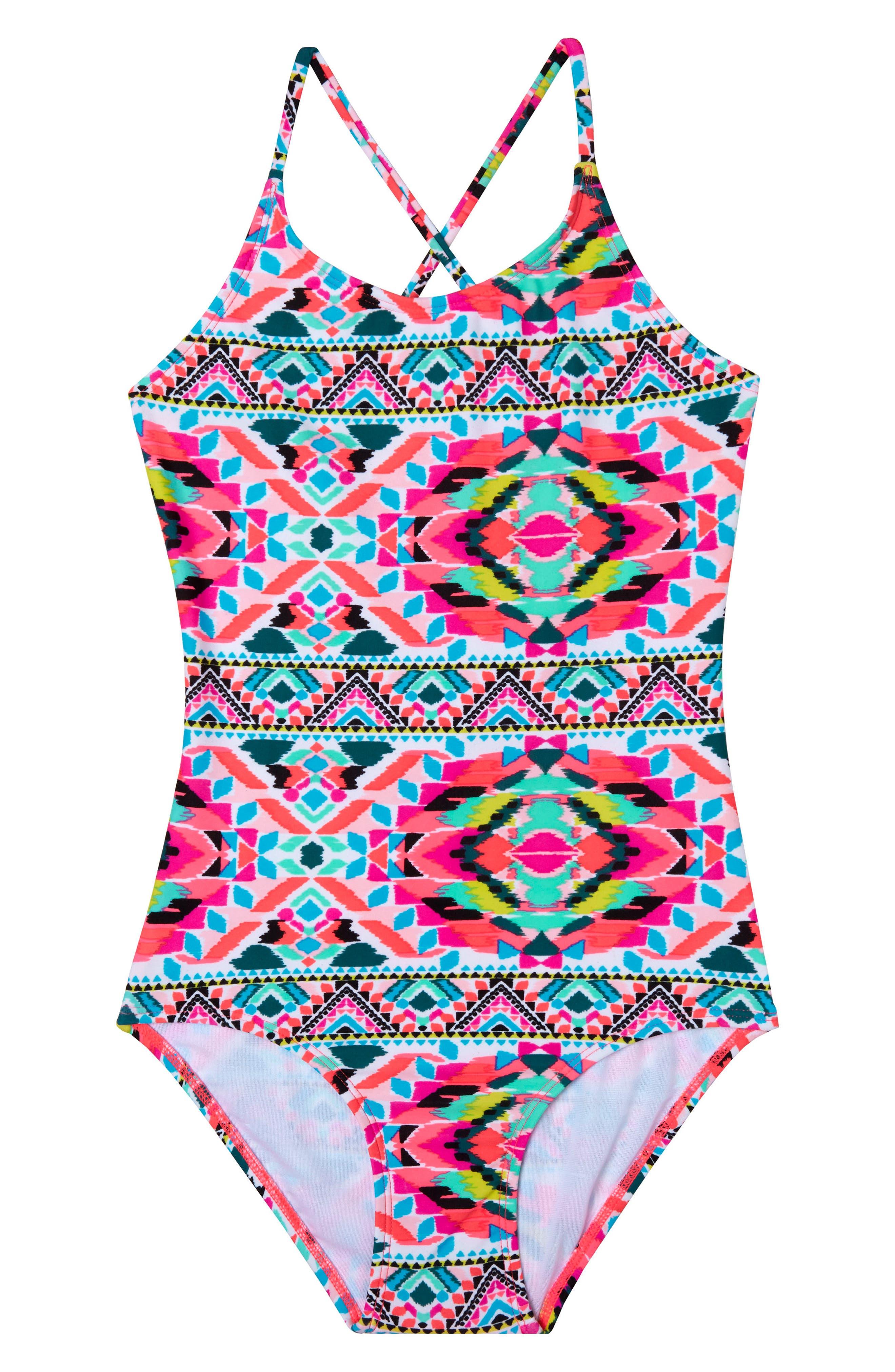 GOSSIP GIRL Surfside Solstice One-Piece Swimsuit, Main, color, 658