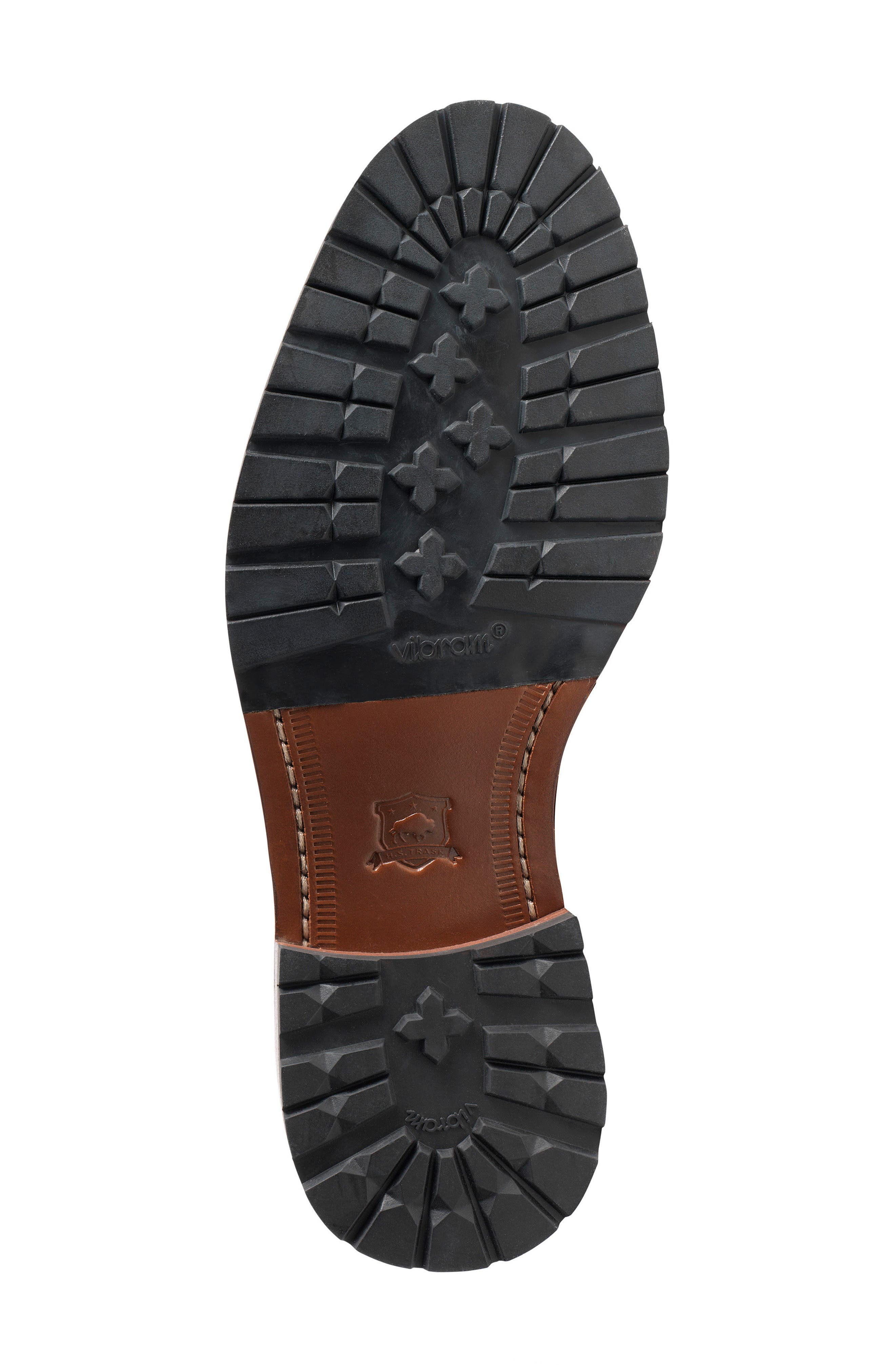 Larkin Zip Boot,                             Alternate thumbnail 4, color,                             BROWN WAXED SUEDE