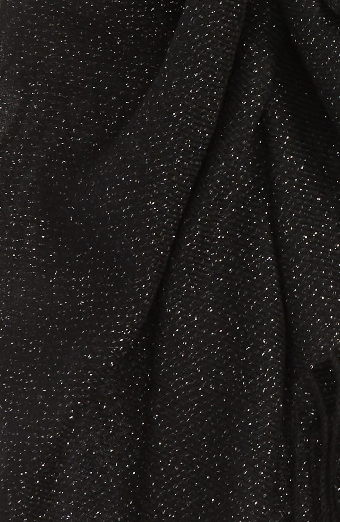 Metallic Wool Blend Scarf,                             Alternate thumbnail 4, color,                             BLACK COMBO