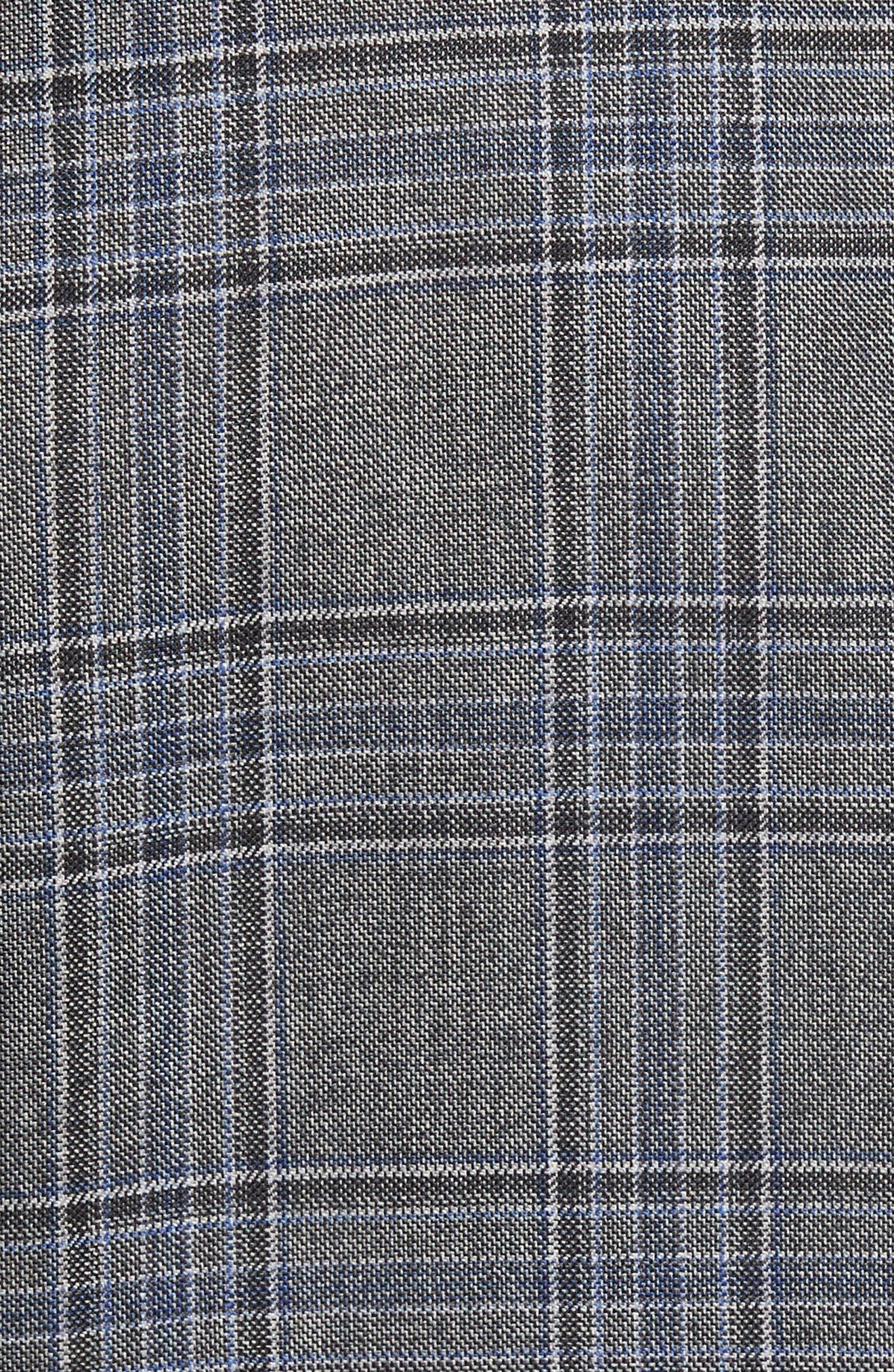 Trim Fit Plaid Wool Sport Coat,                             Alternate thumbnail 6, color,                             030