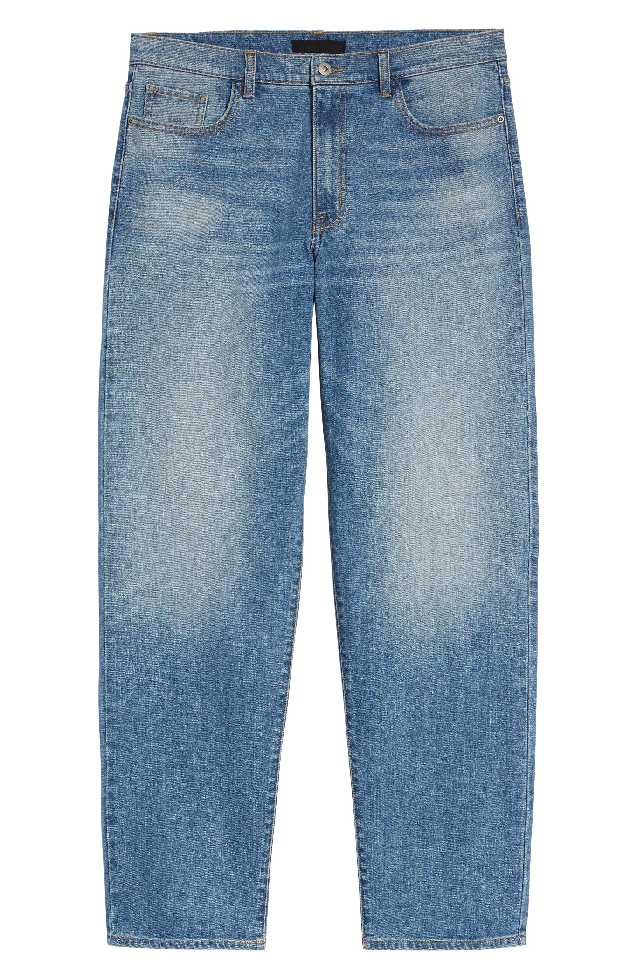 Straight Leg Jeans,                             Alternate thumbnail 6, color,                             BLUE EVAN WASH