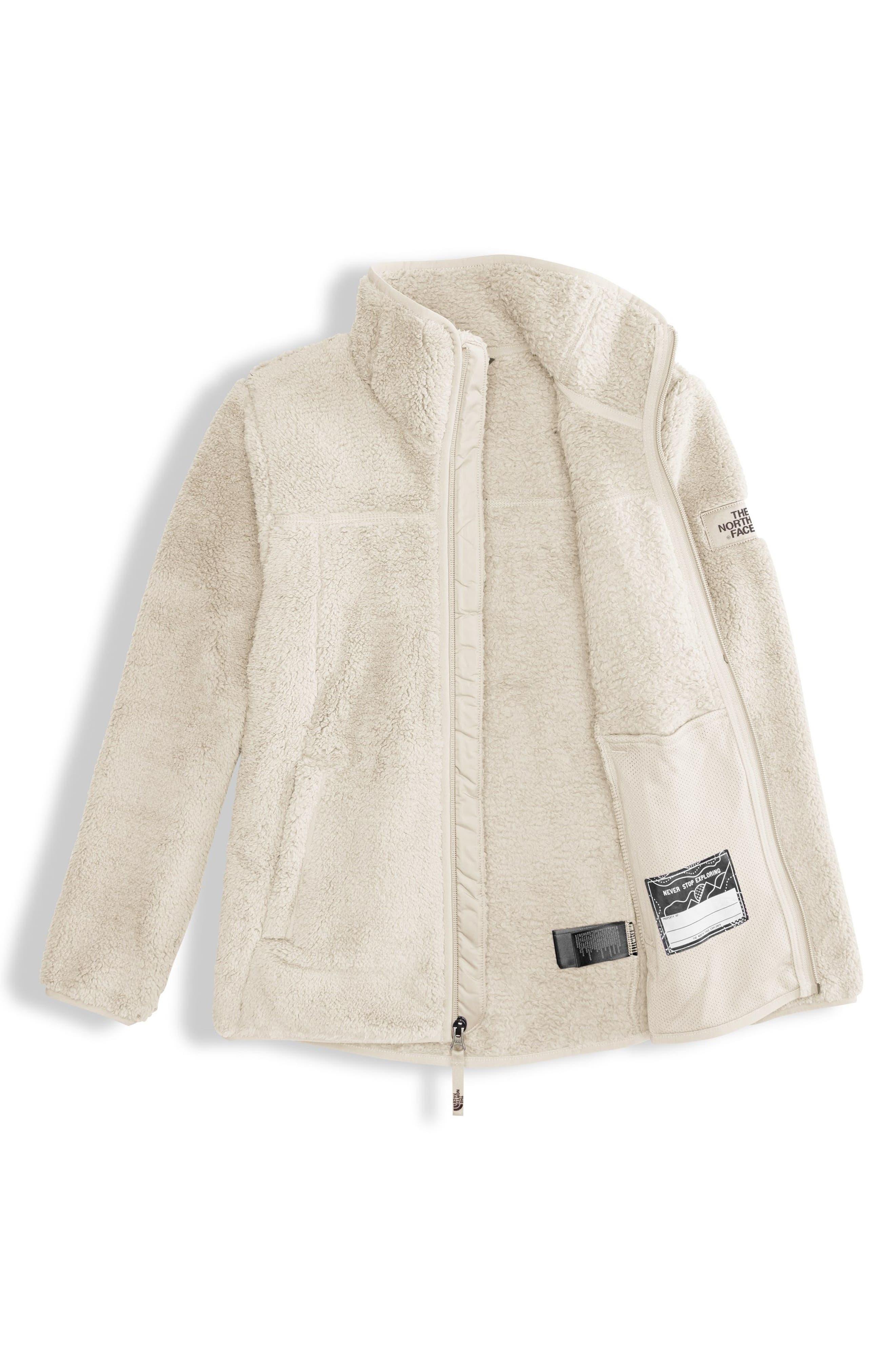 Campshire Fleece Jacket,                             Alternate thumbnail 2, color,                             VINTAGE WHITE