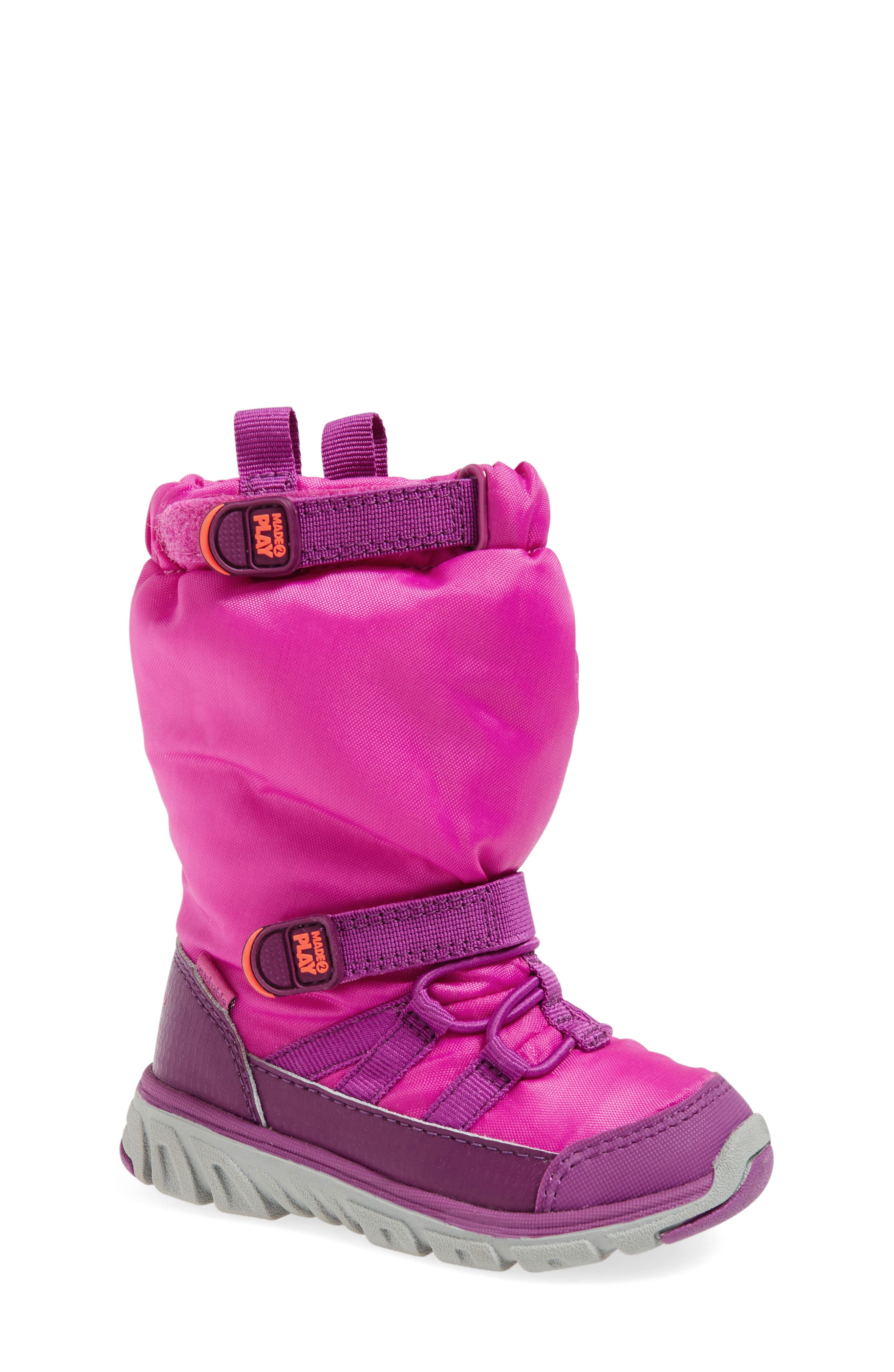'Made 2 Play' WaterResistantBoot,                             Alternate thumbnail 4, color,                             PINK