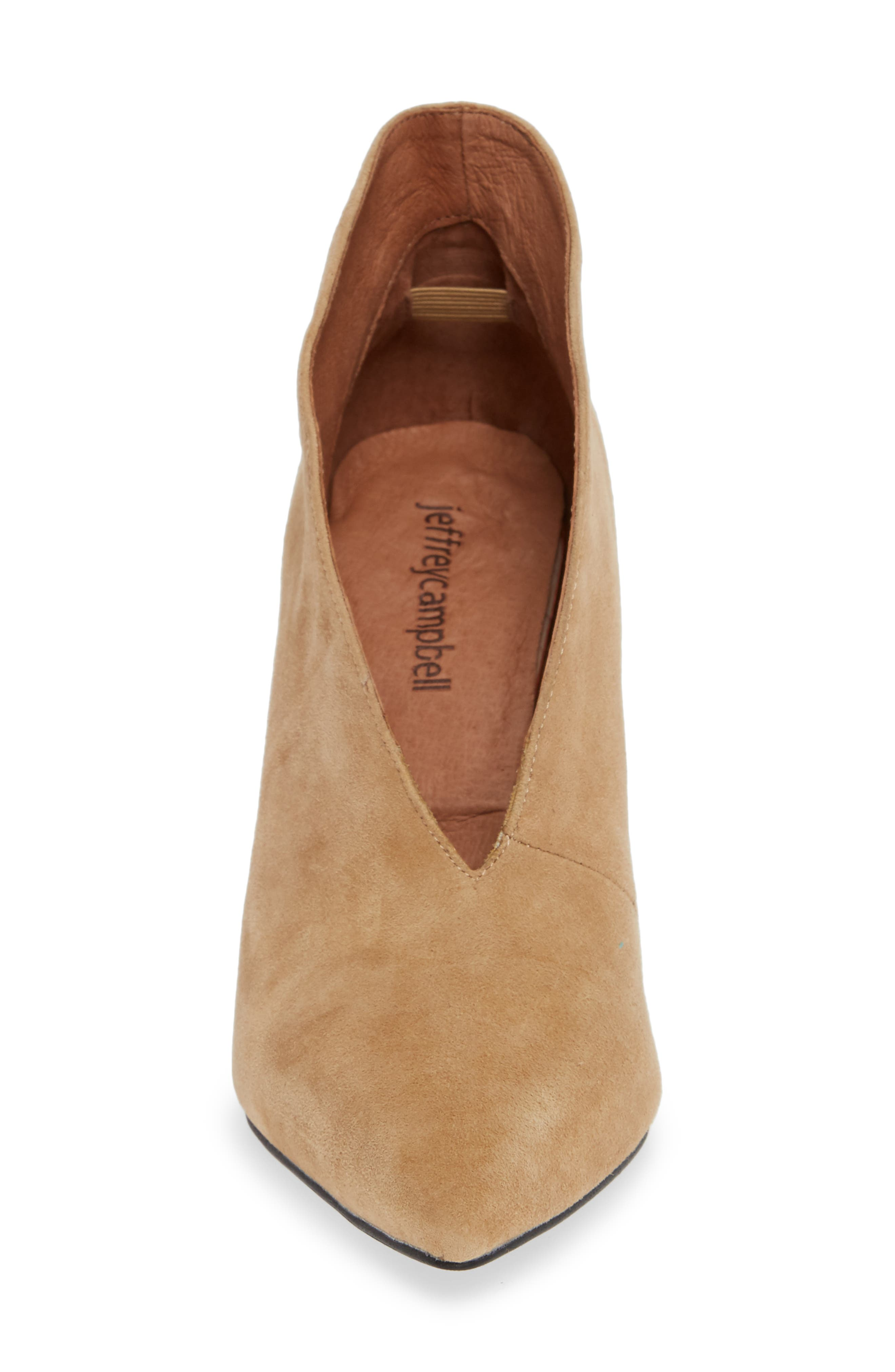Electron Bootie,                             Alternate thumbnail 4, color,                             NUDE SUEDE