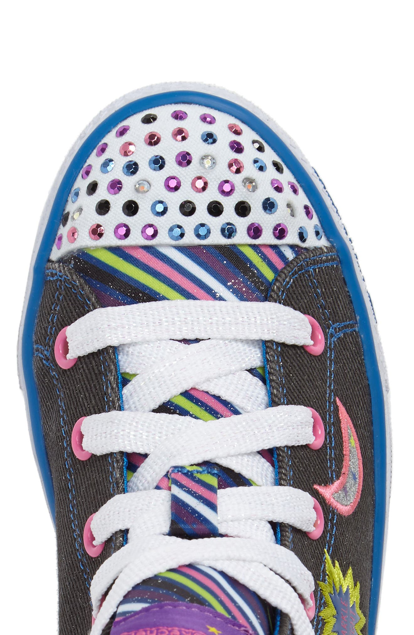 Twinkle Toes Shuffles Light-Up High Top Sneaker,                             Alternate thumbnail 5, color,