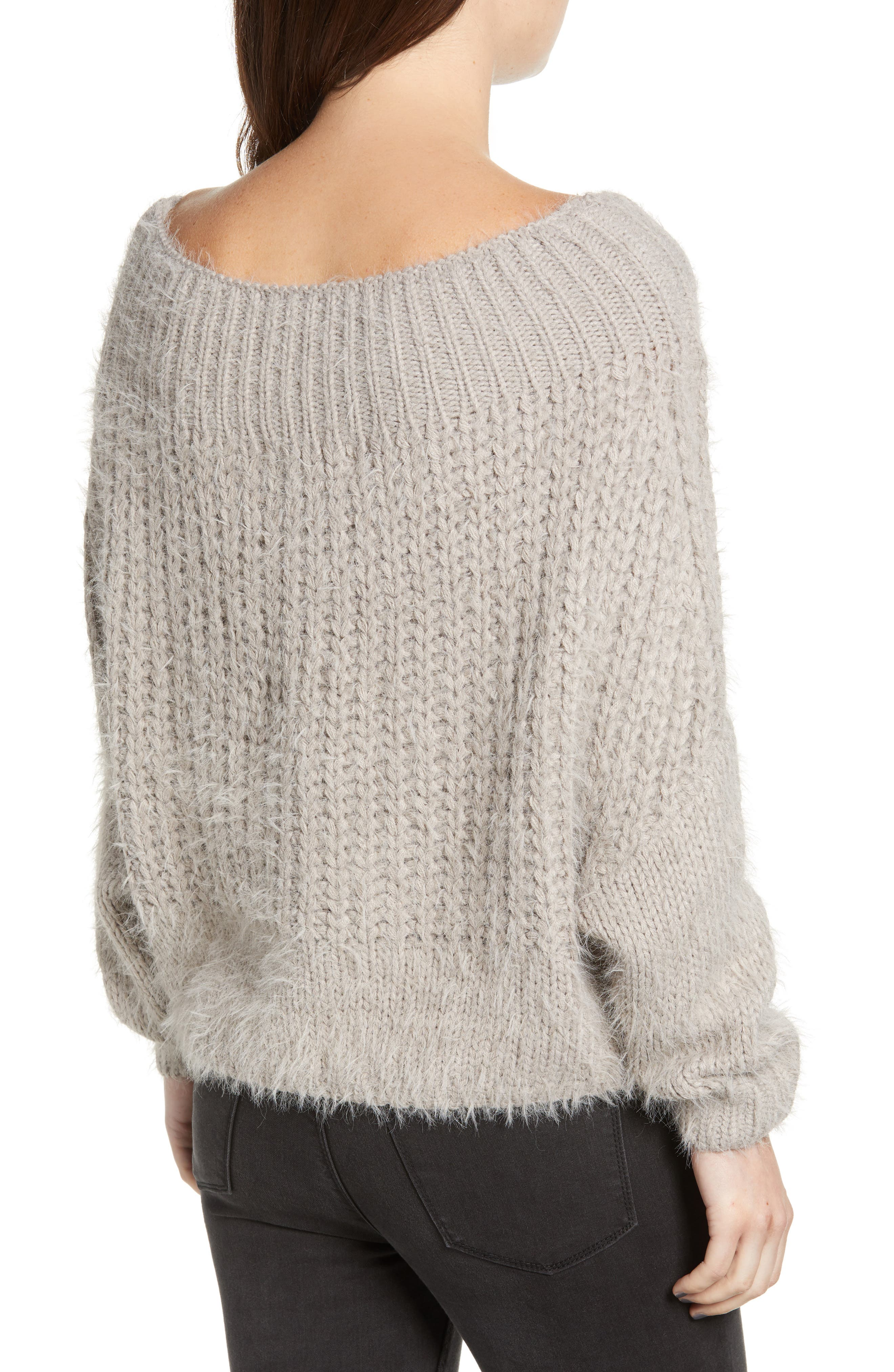 DREAMERS BY DEBUT,                             Boatneck Knit Pullover,                             Alternate thumbnail 2, color,                             MICRO GREY