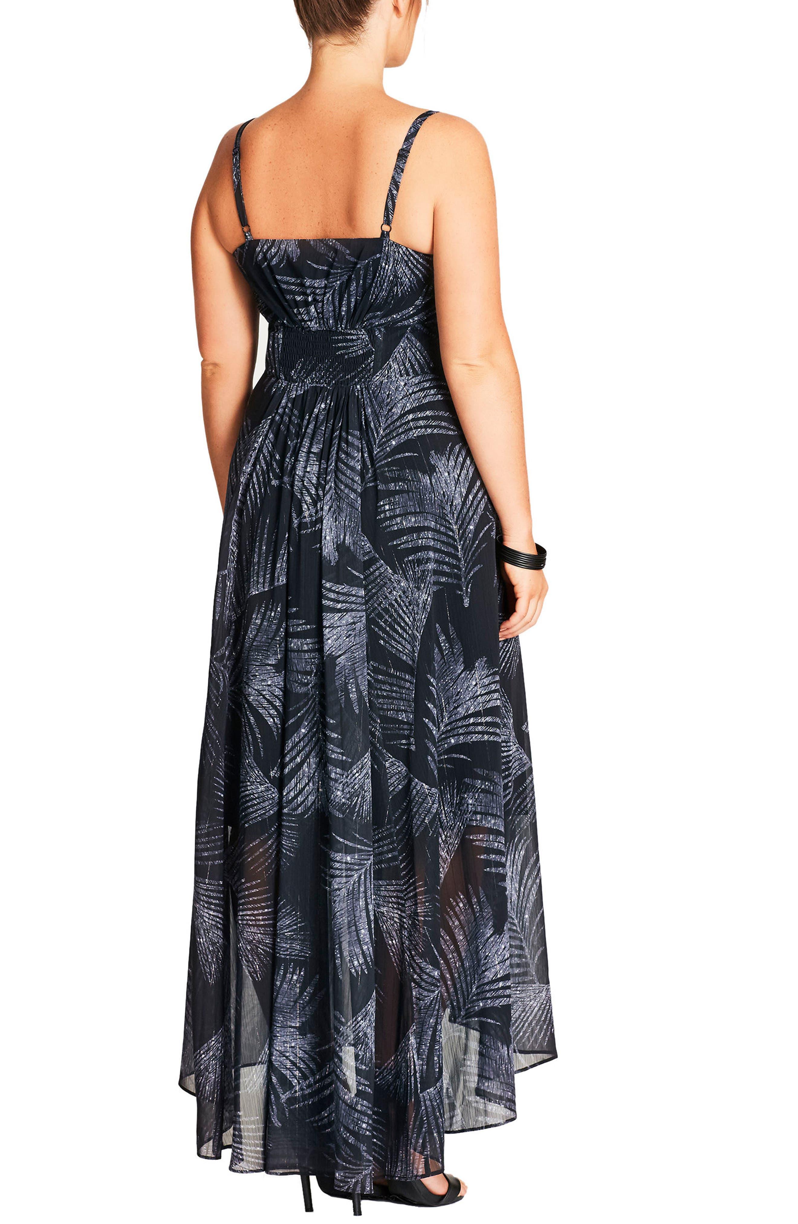 Party Time Print Chiffon Maxi Dress,                             Alternate thumbnail 2, color,                             040