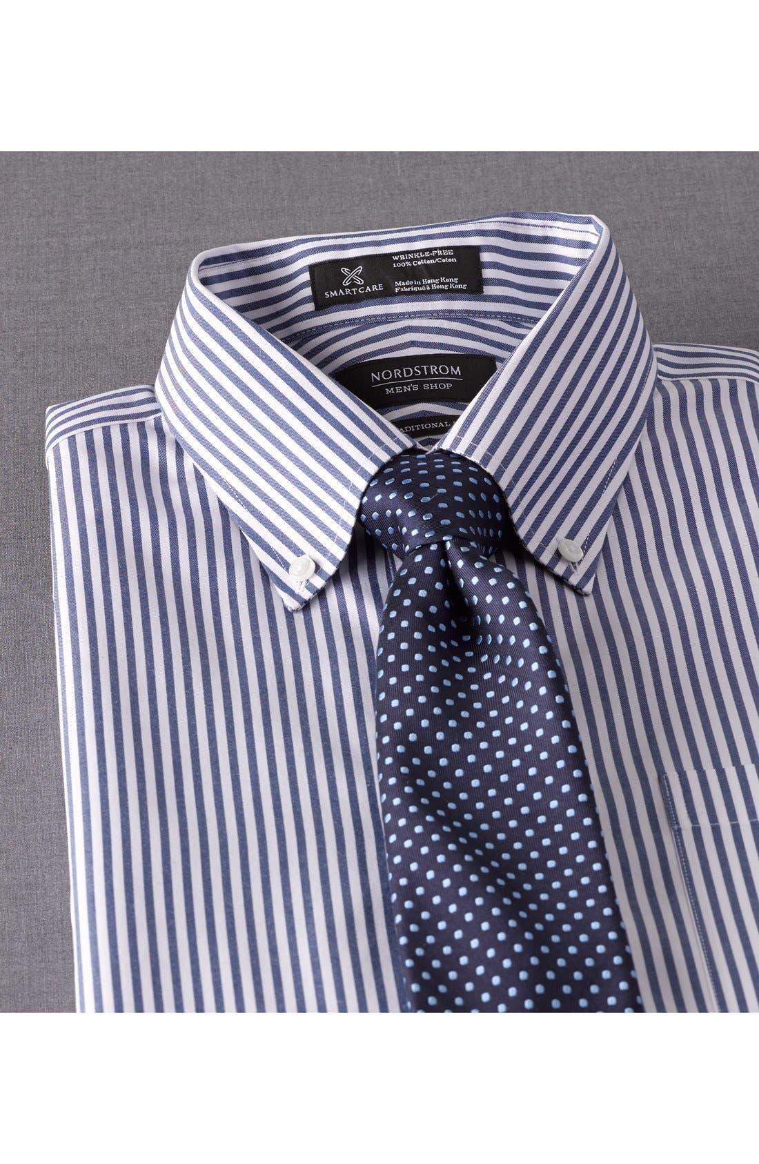 NORDSTROM MEN'S SHOP,                             Smartcare<sup>™</sup> Traditional Fit Stripe Dress Shirt,                             Alternate thumbnail 3, color,                             020