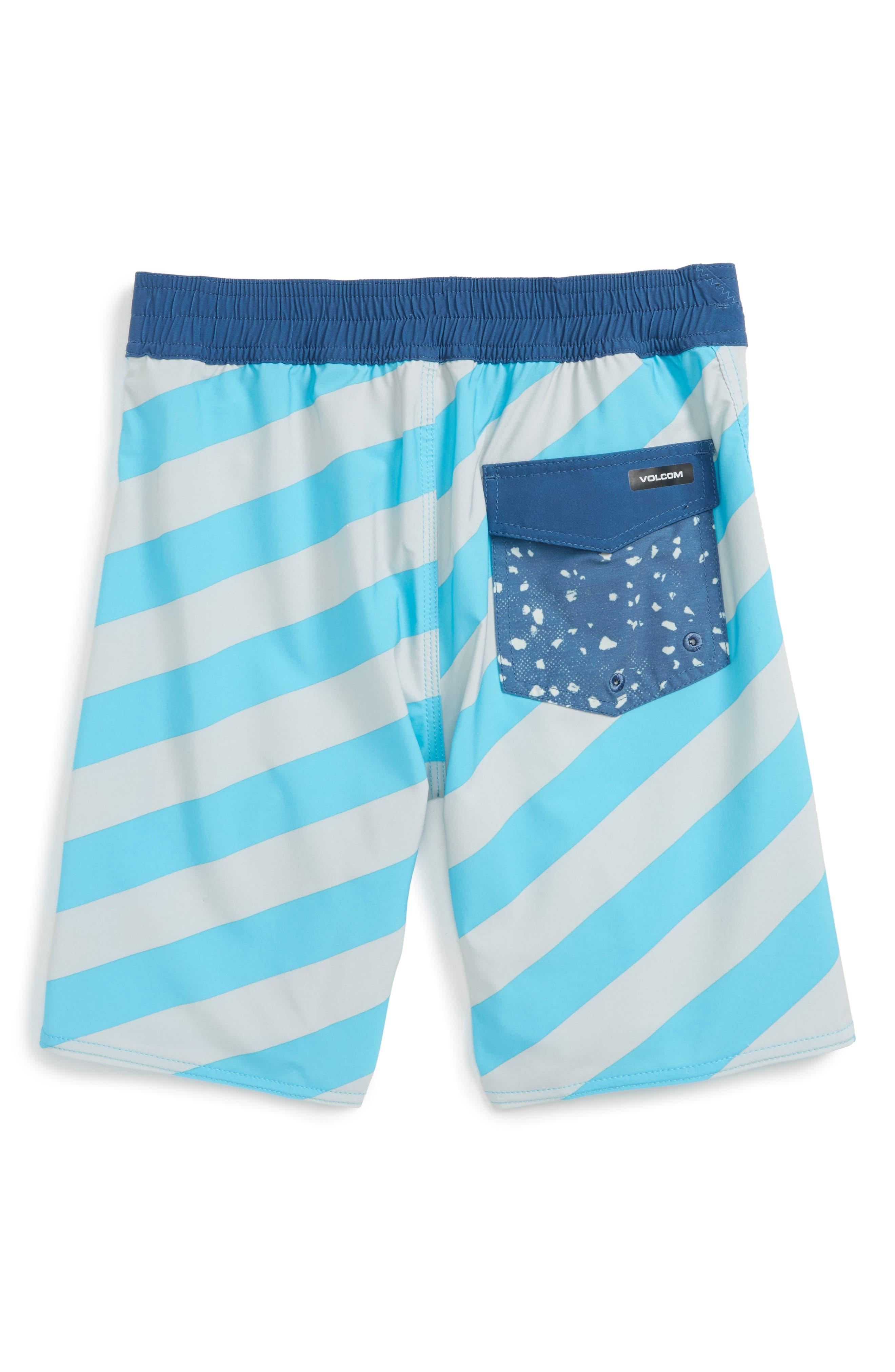 Stripey Jammer Board Shorts,                             Main thumbnail 6, color,