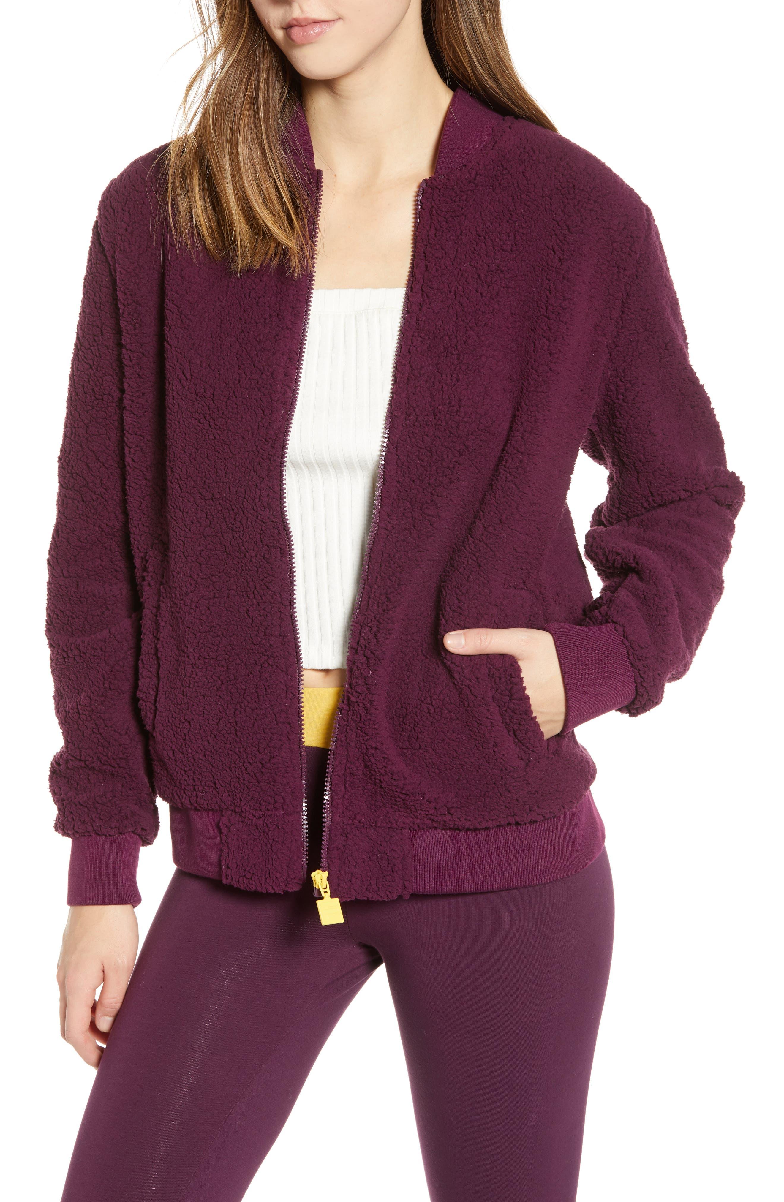 Fila Reagan Back Logo Fleece Jacket, Purple