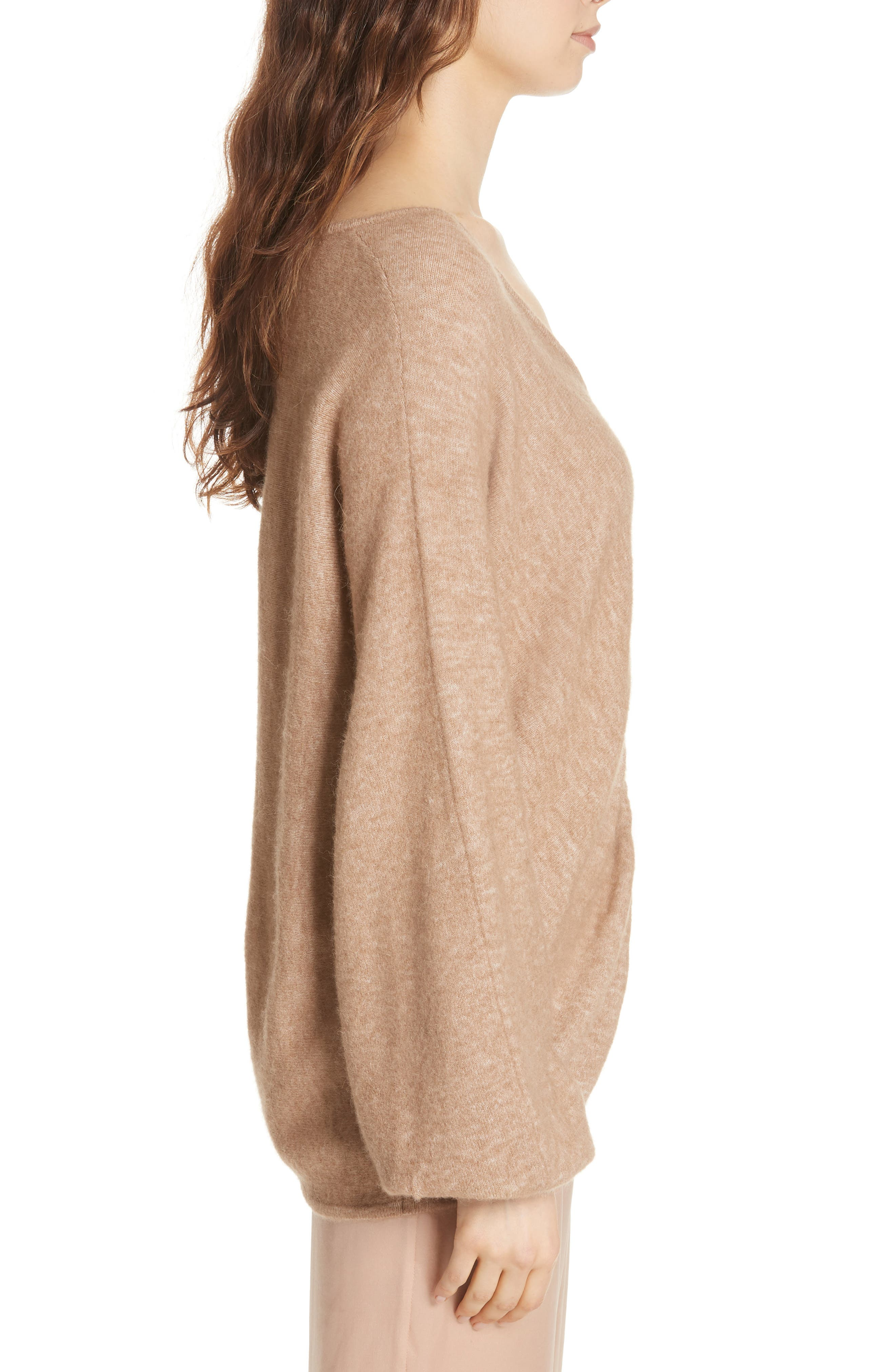 Meridien Sweater,                             Alternate thumbnail 3, color,                             CAMEL