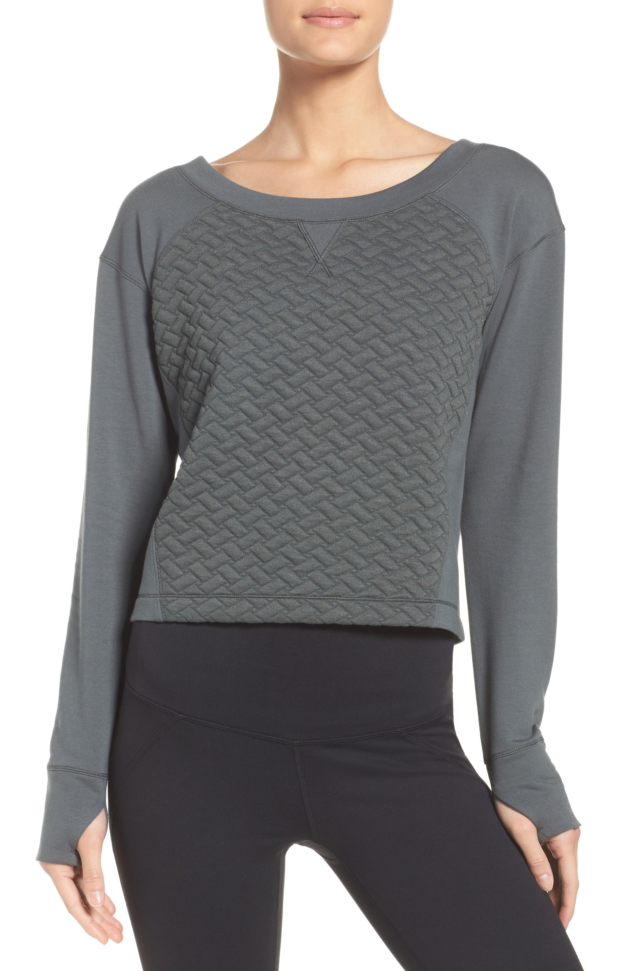 Dance Off Crop Pullover,                             Main thumbnail 1, color,                             021