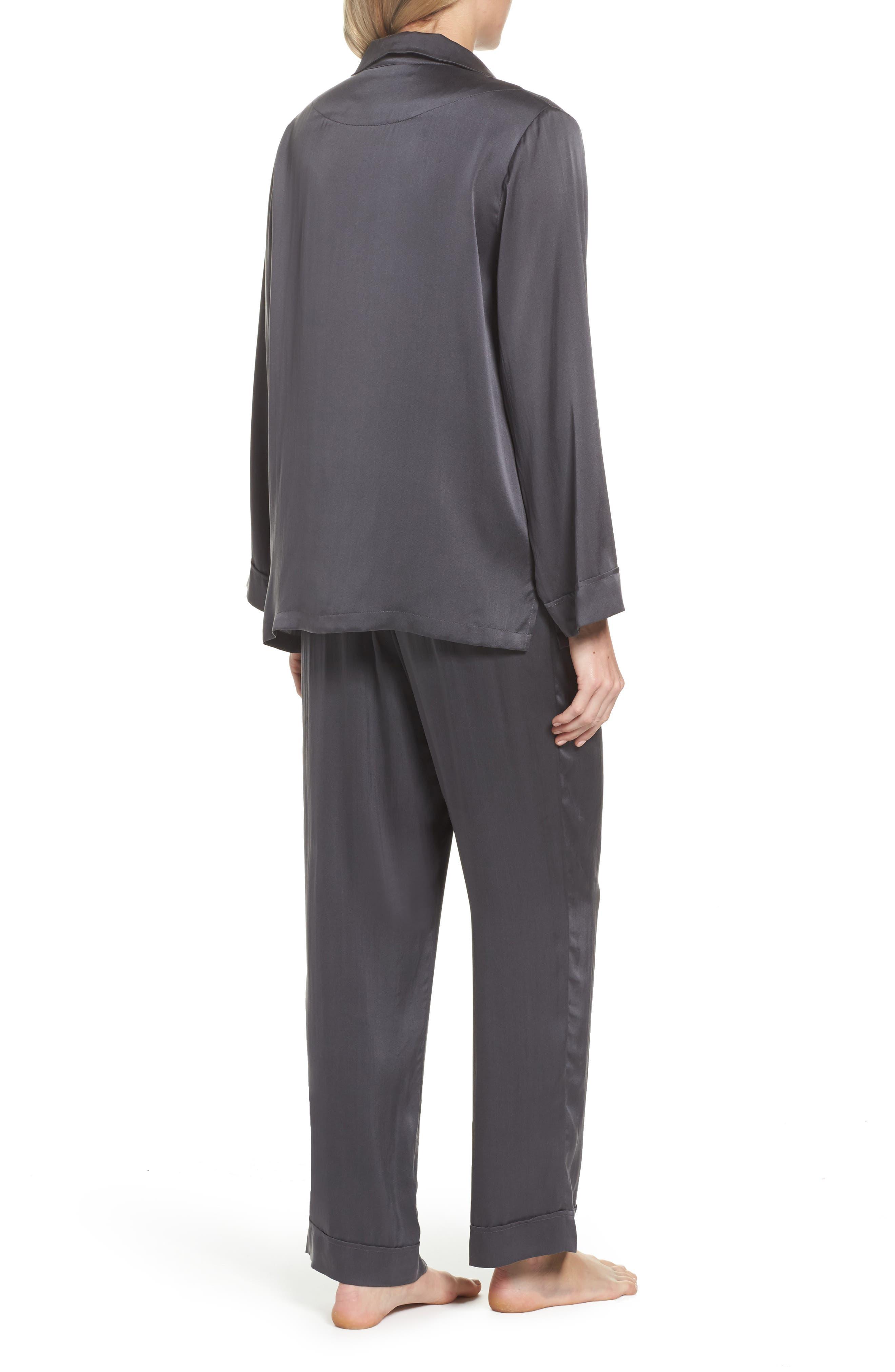 Silk Pajamas,                             Alternate thumbnail 2, color,                             020