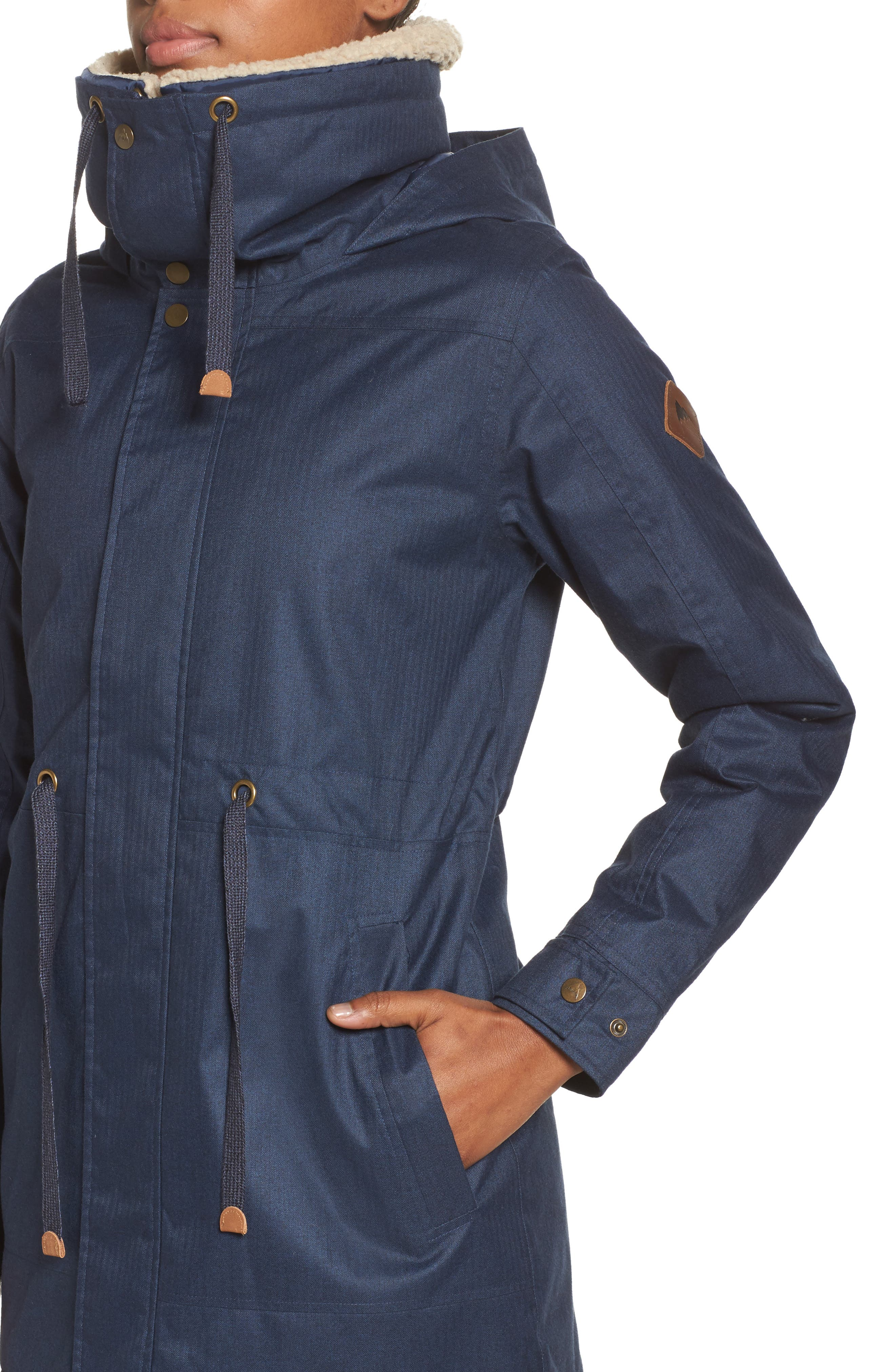 Hazelton Water-Resistant Hooded Jacket with Removable Fleece Lining,                             Alternate thumbnail 4, color,                             400
