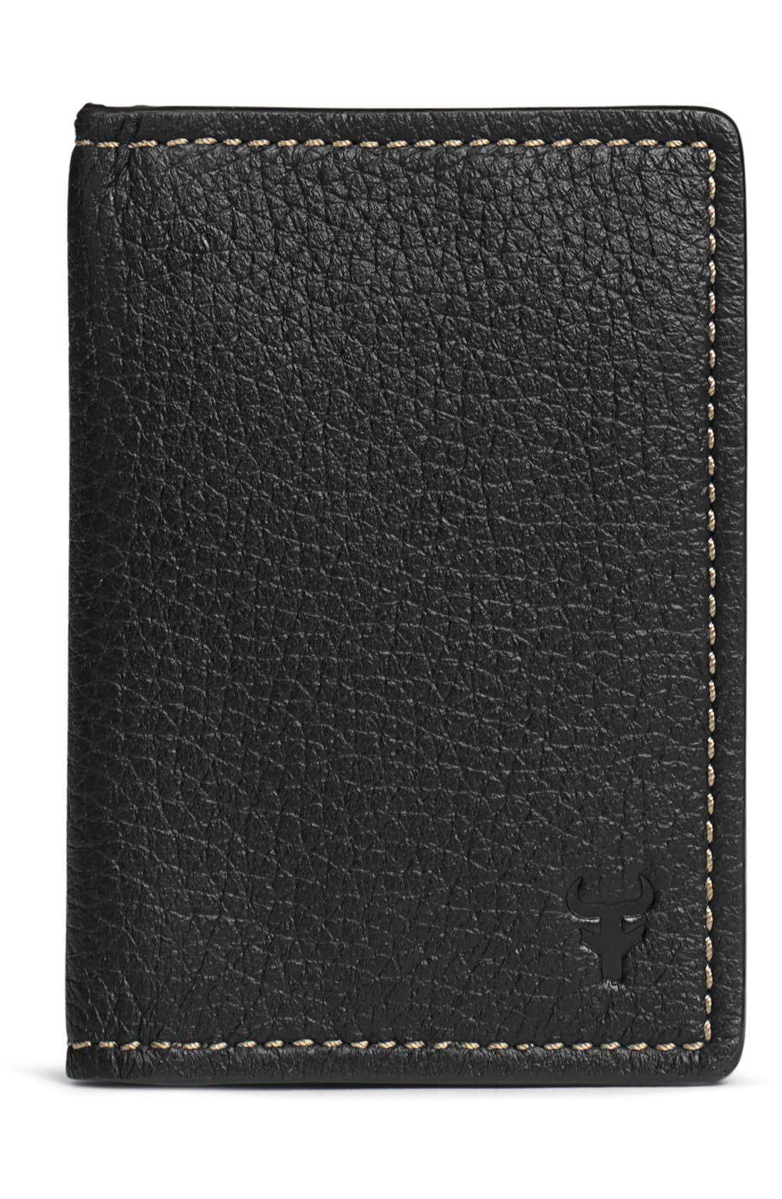 'Jackson' Folding Card Case,                             Main thumbnail 1, color,                             BLACK