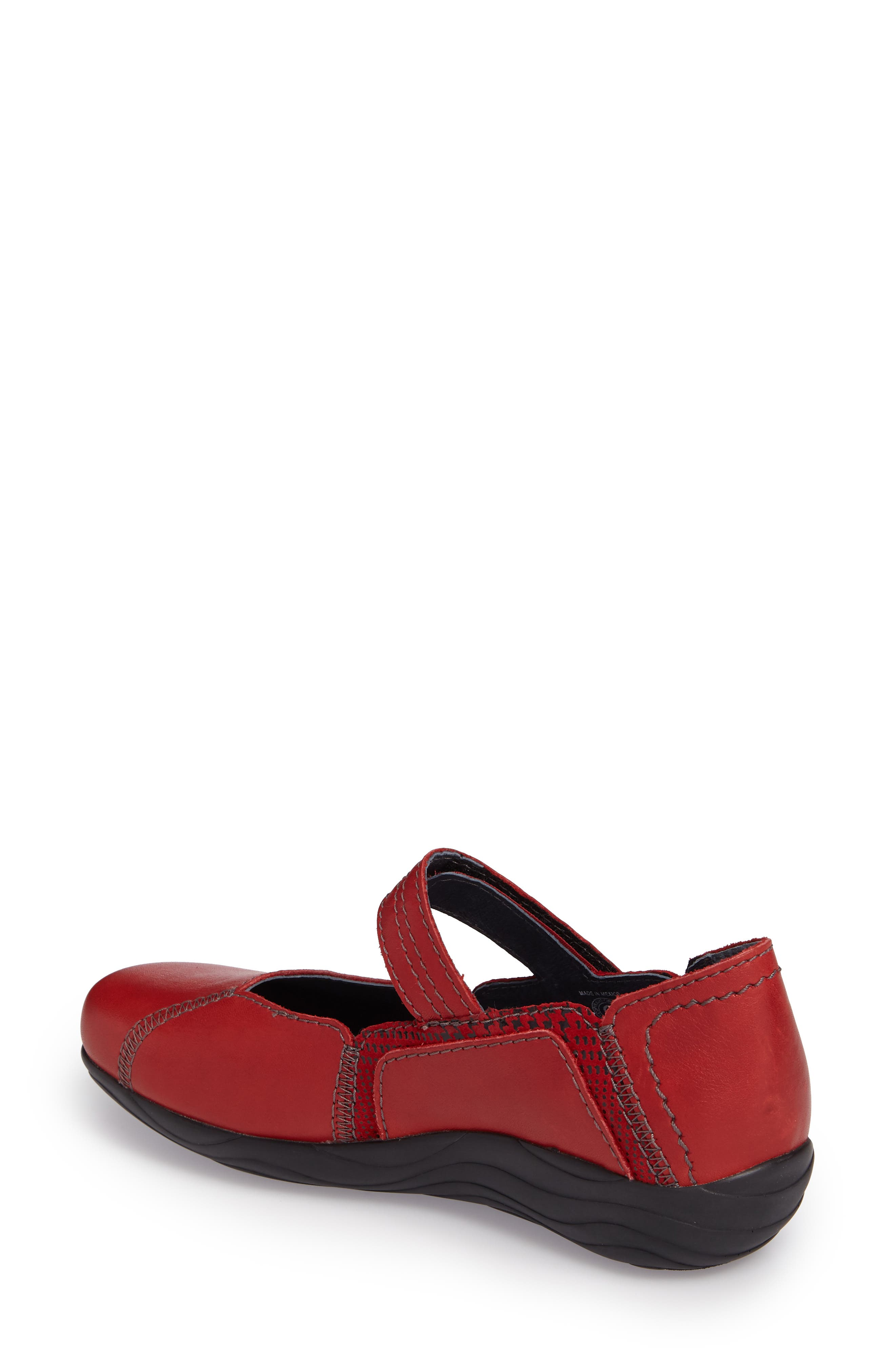 Gila Mary-Jane Flat,                             Alternate thumbnail 2, color,                             RED LEATHER