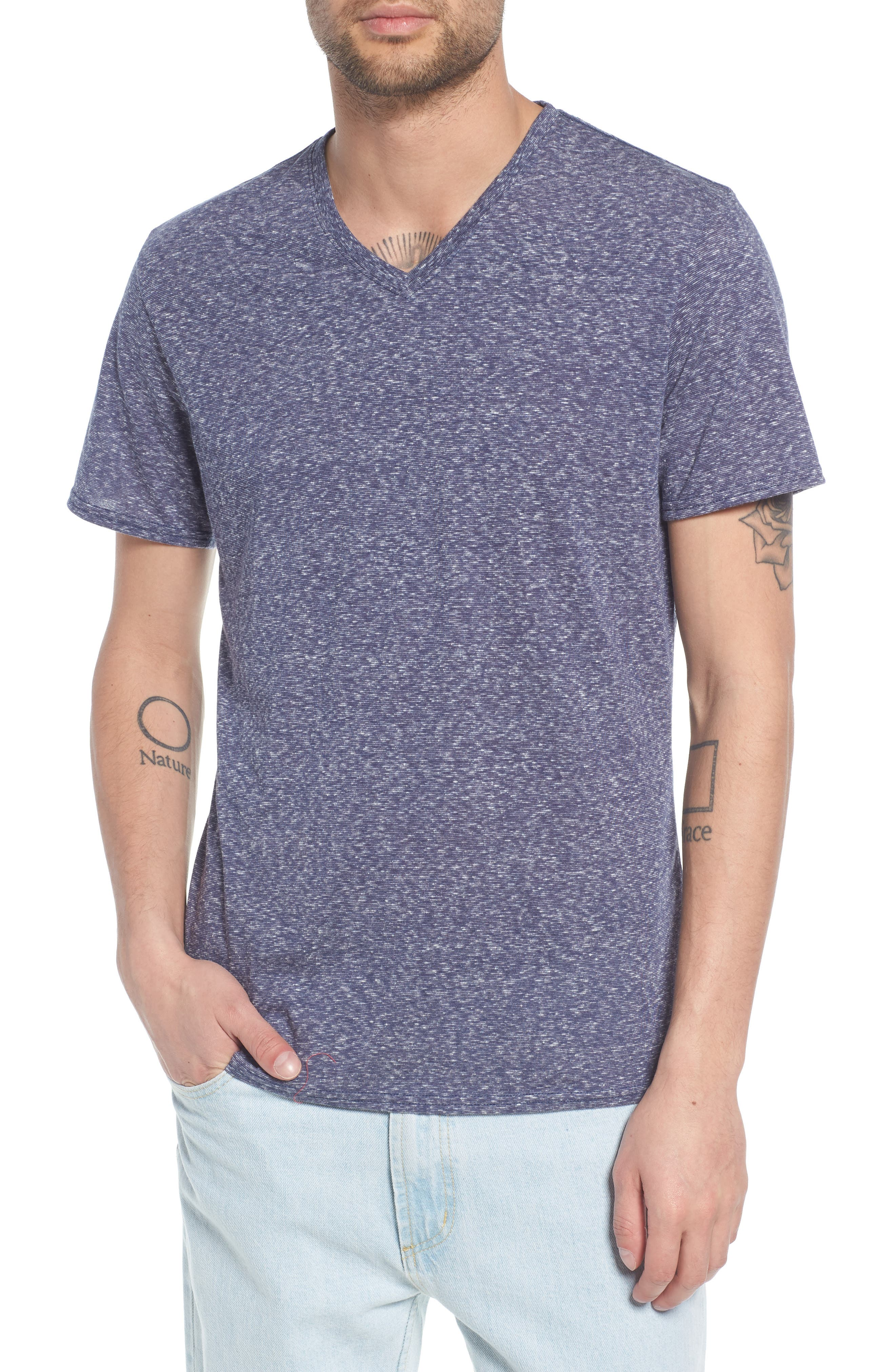 Jersey V-Neck T-Shirt,                         Main,                         color, 410