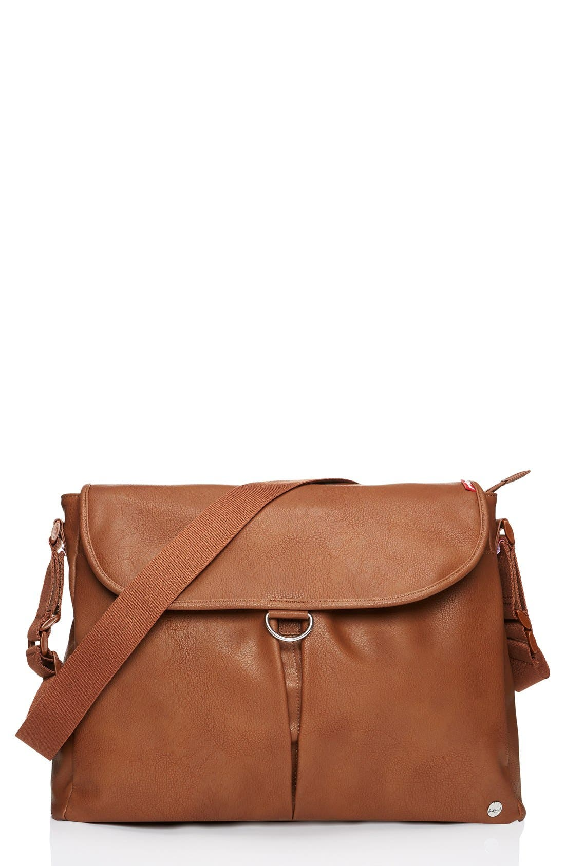Ally Faux Leather Diaper Bag,                         Main,                         color, TAN