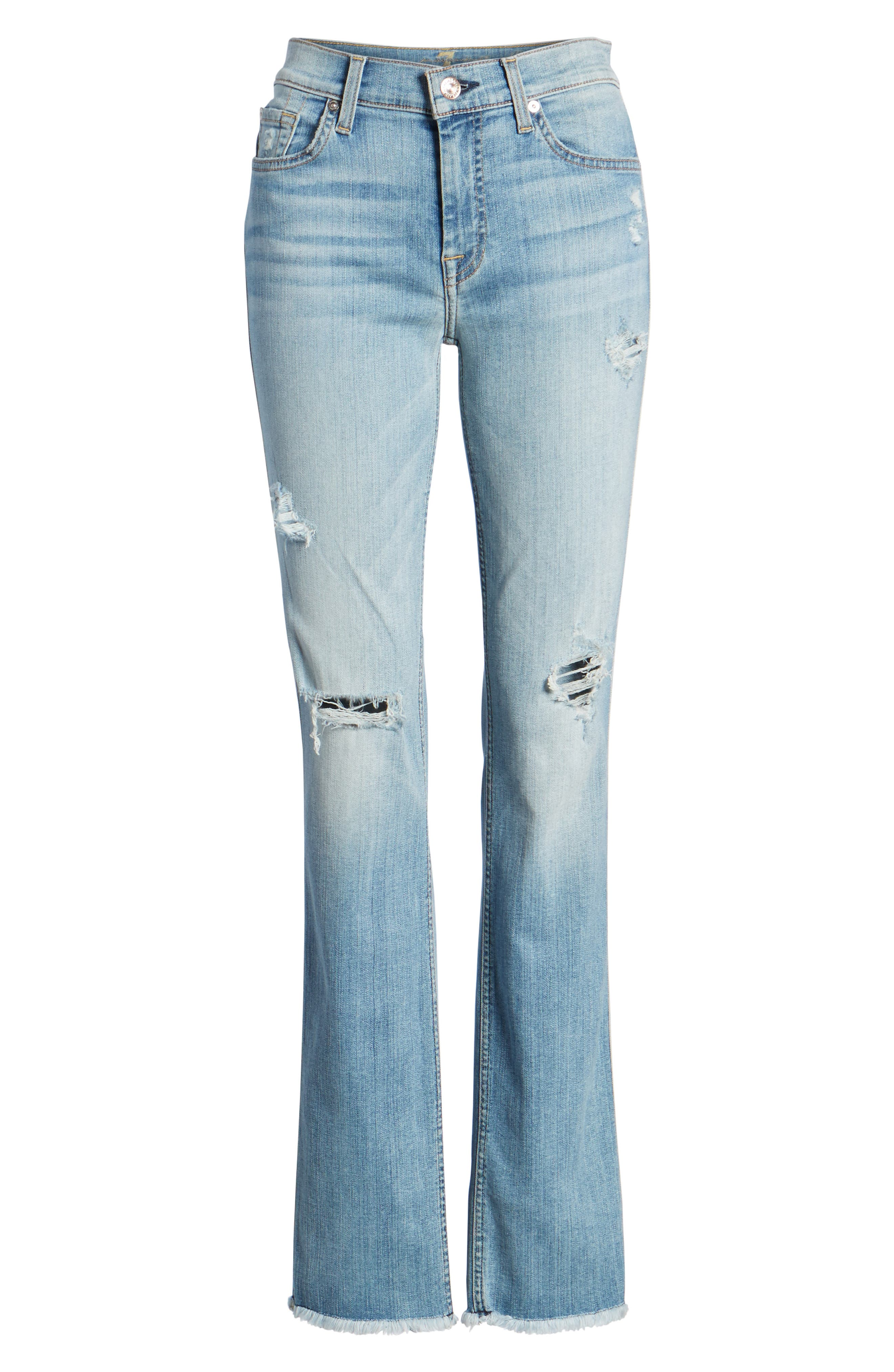 Dylan Ripped Straight Leg Jeans,                             Alternate thumbnail 7, color,