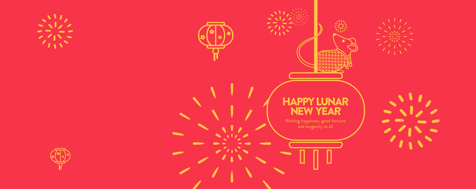 Happy Lunar New Year: wishing happiness, good fortune and longevity to all.