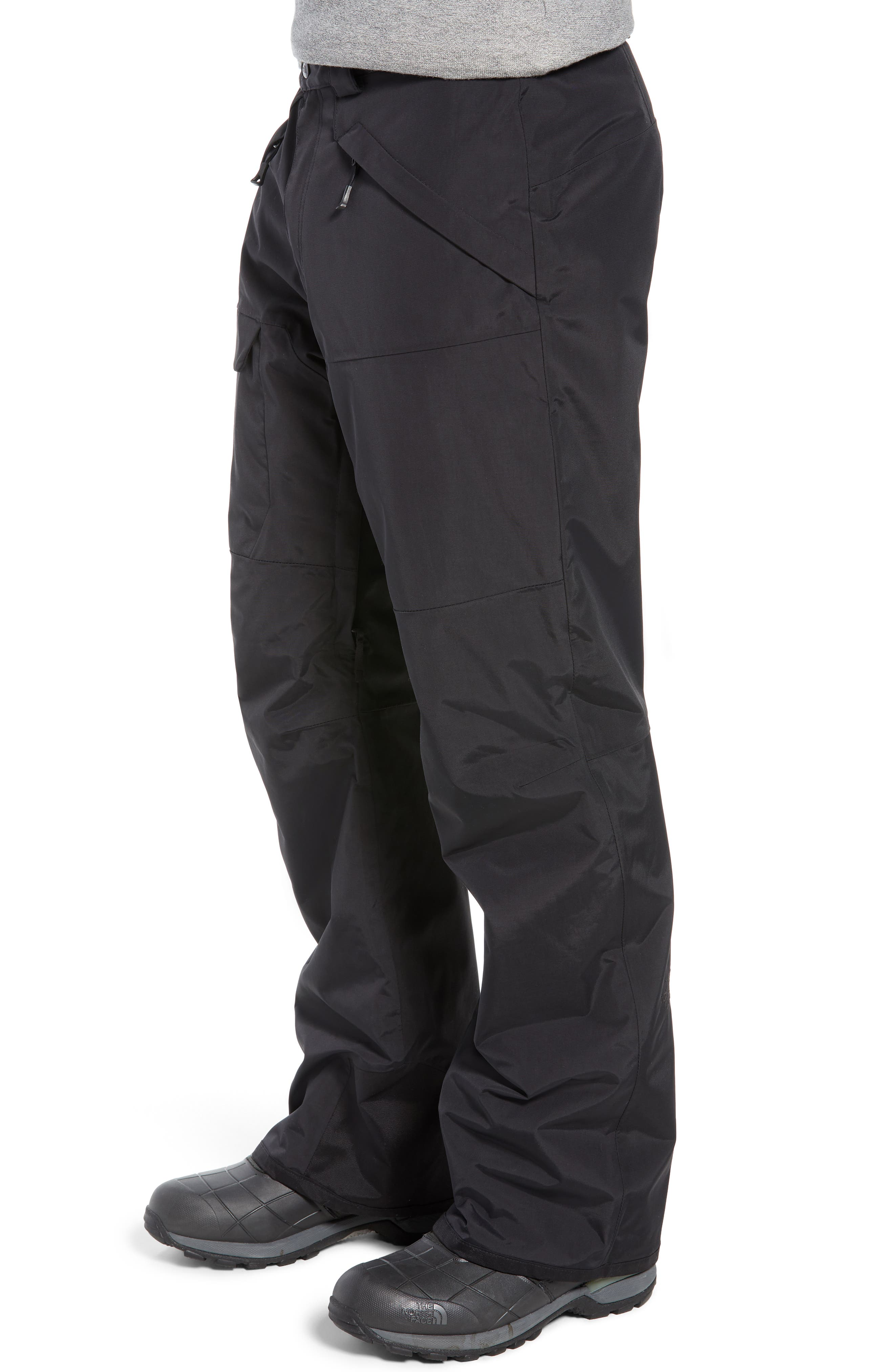 Freedom Heatseeker Insulated Snow Pants,                             Alternate thumbnail 4, color,                             TNF BLACK