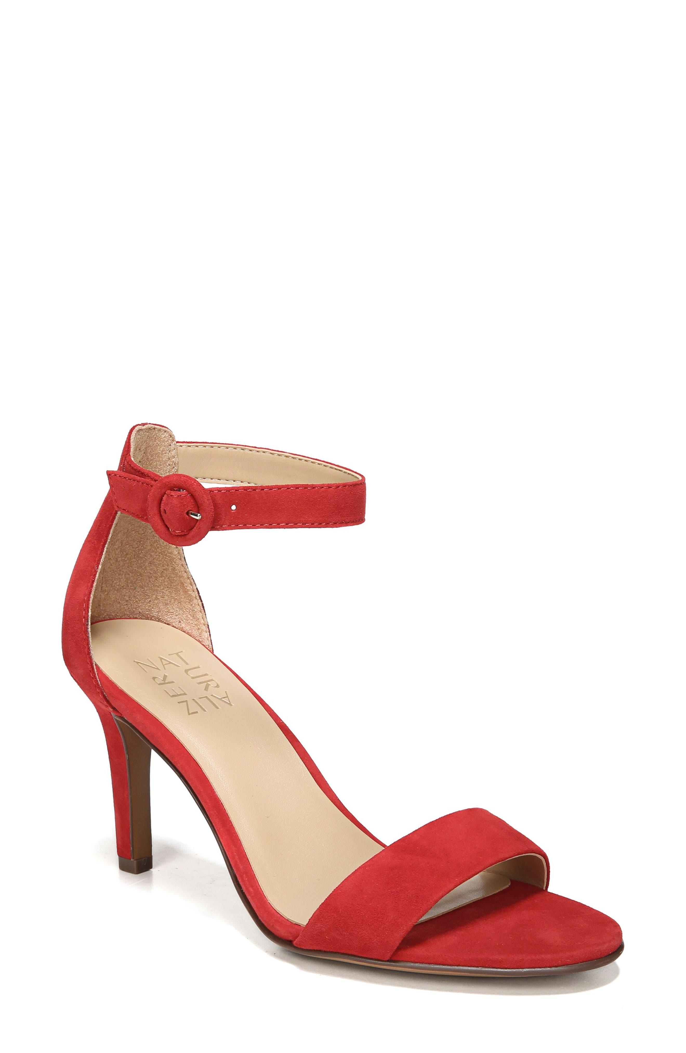 Naturalizer Kinsley Ankle Strap Sandal- Red