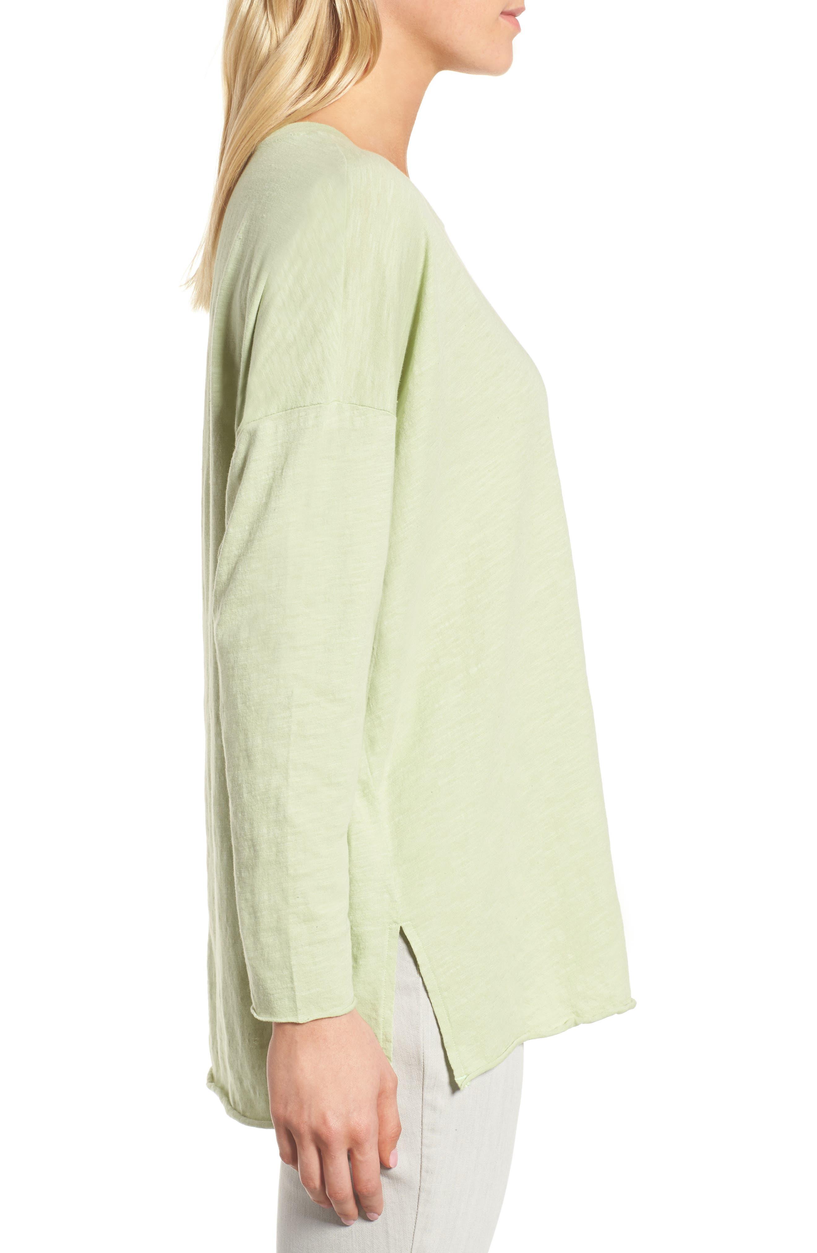 Organic Cotton Knit Top,                             Alternate thumbnail 22, color,