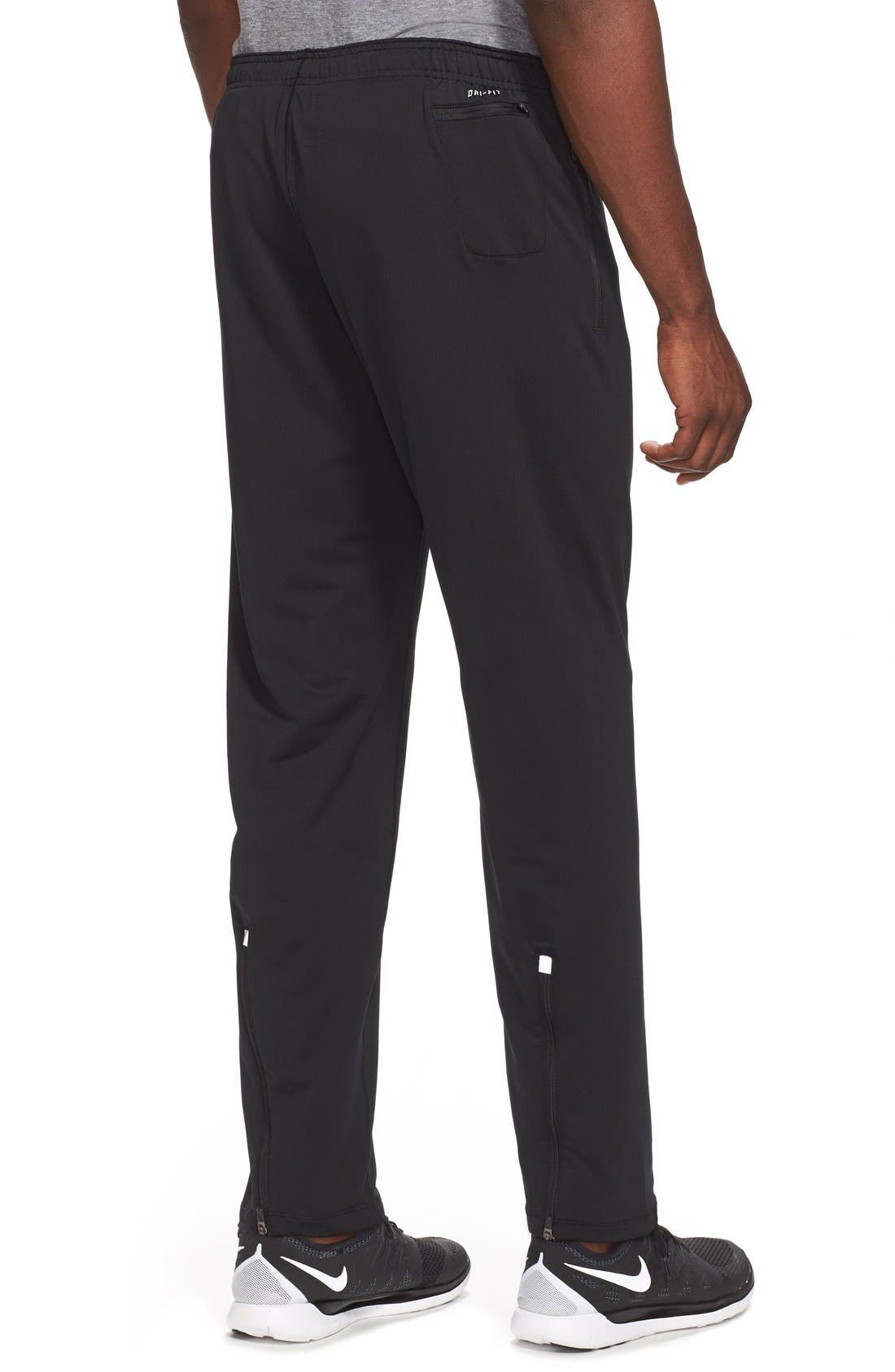 'Y20' Tapered Fit Dri-FIT Running Stretch Pants,                             Alternate thumbnail 4, color,                             010