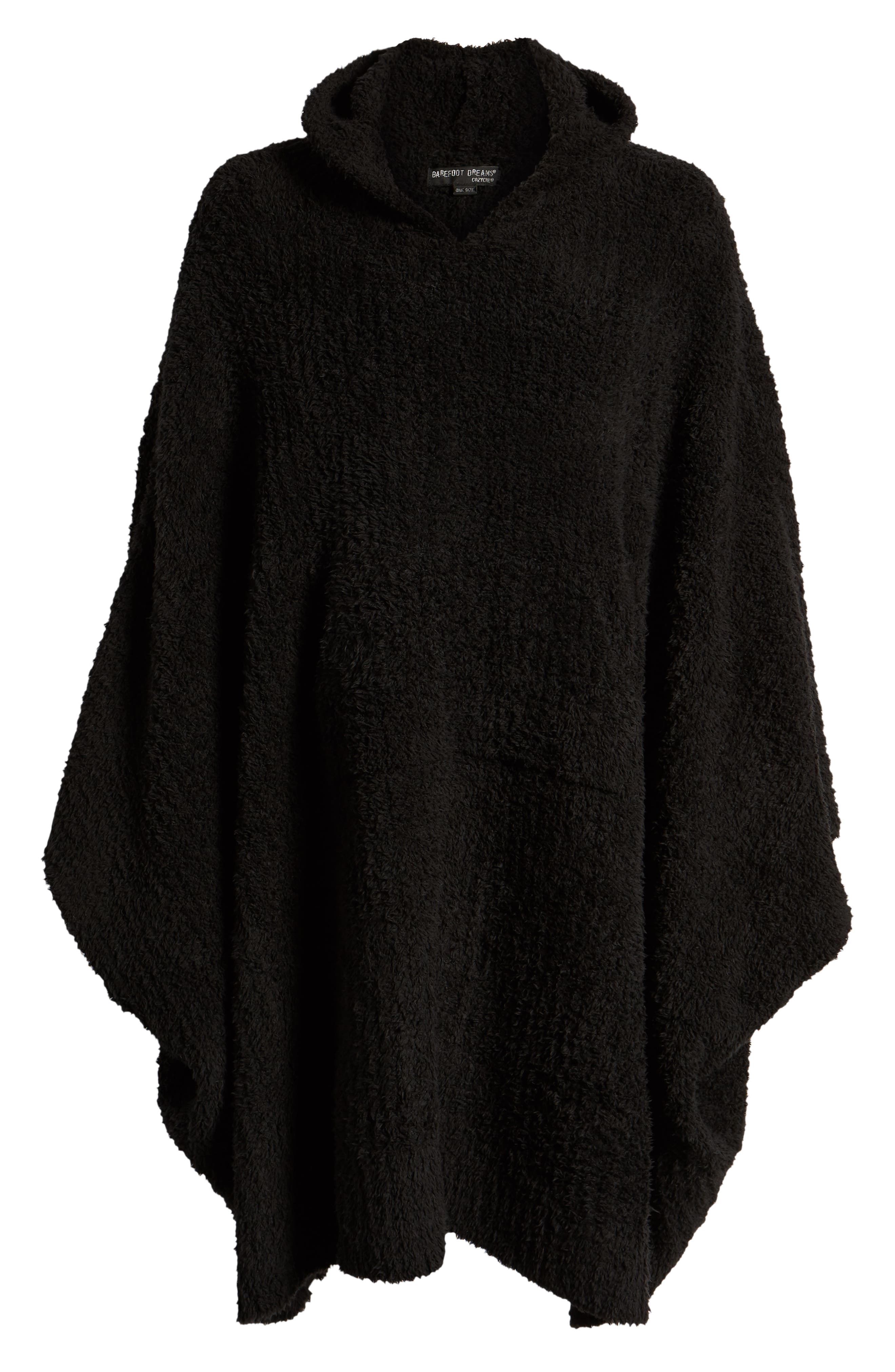 BAREFOOT DREAMS<SUP>®</SUP>,                             Barefoot Dreams Cozy Chic Poncho Robe,                             Alternate thumbnail 6, color,                             001