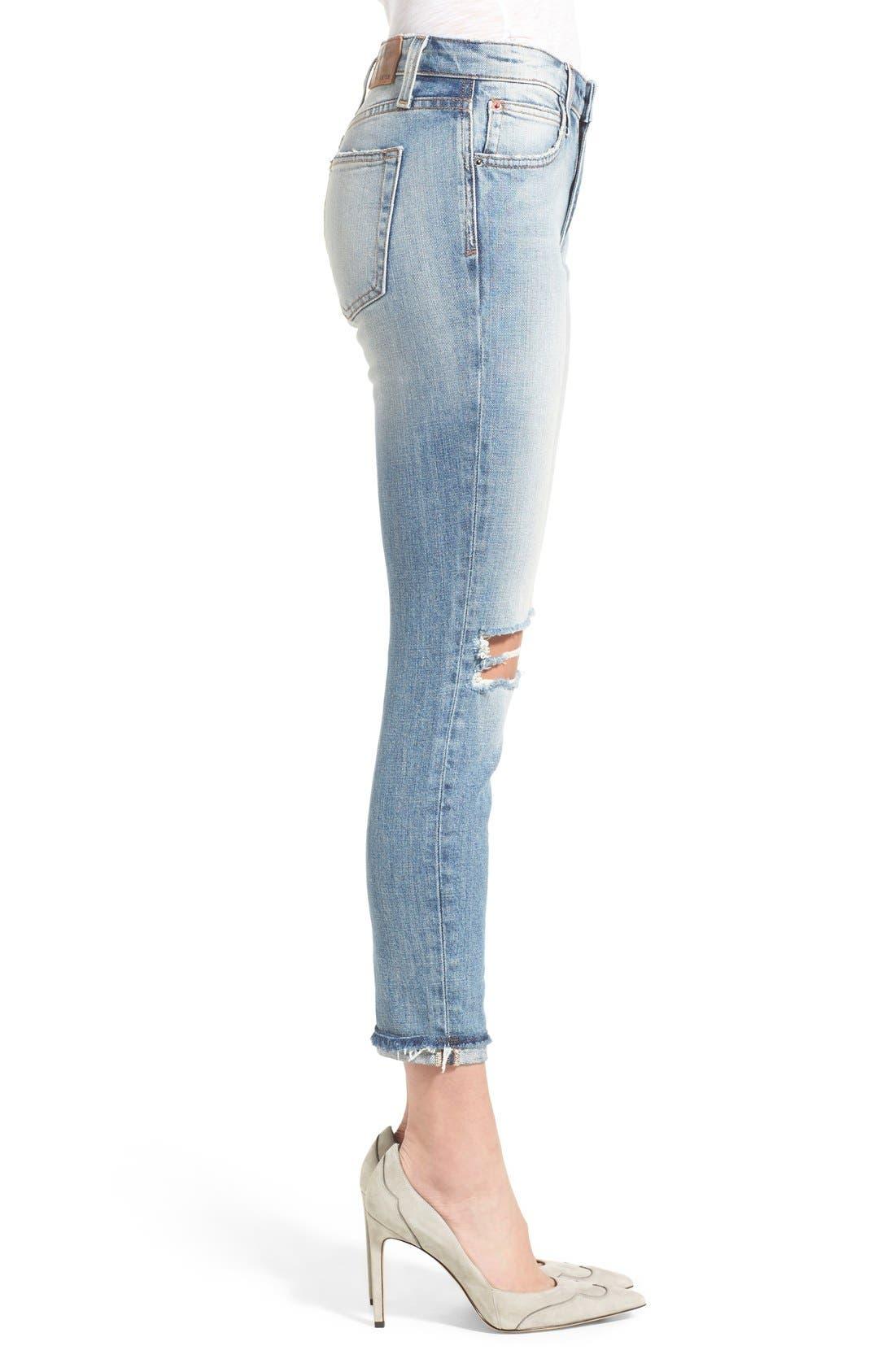 'Collector's - Billie' Ankle Slim Boyfriend Jeans,                             Alternate thumbnail 2, color,                             430