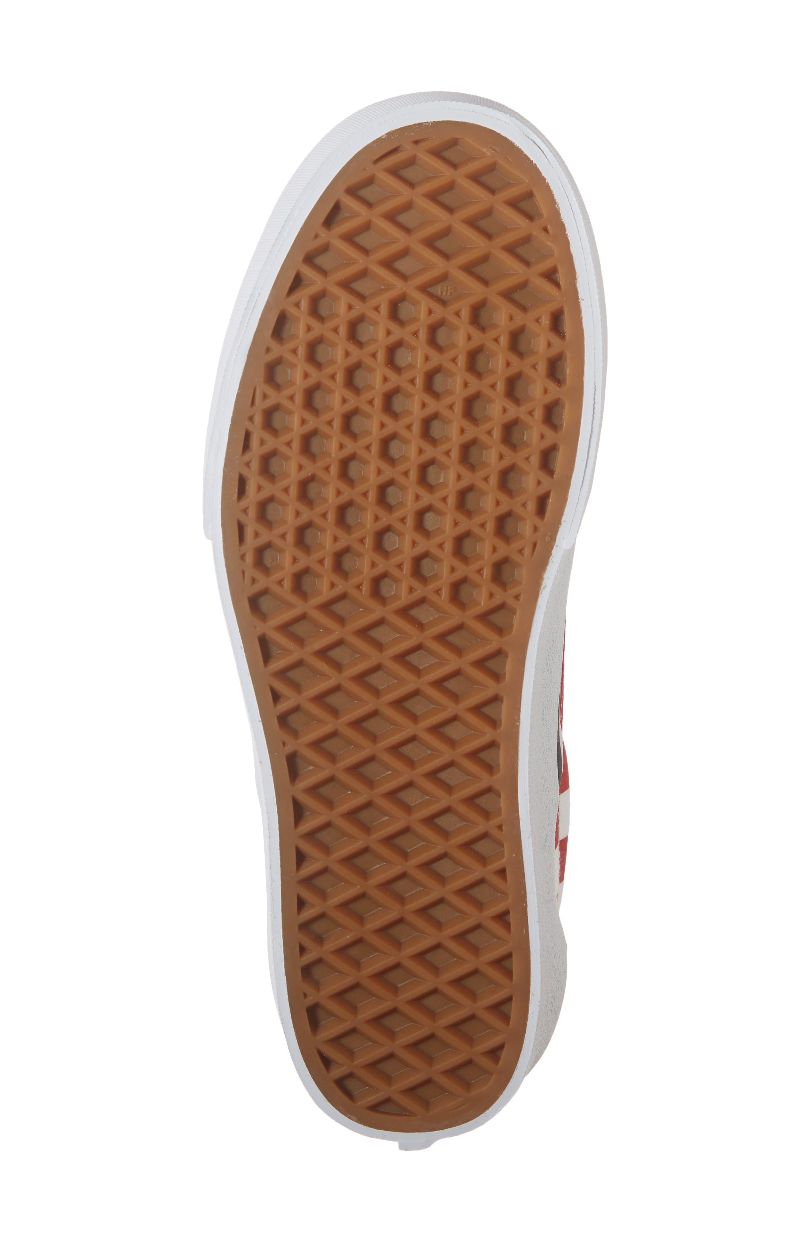Platform Slip-On Sneaker,                             Alternate thumbnail 6, color,                             RACING RED/ TRUE WHITE