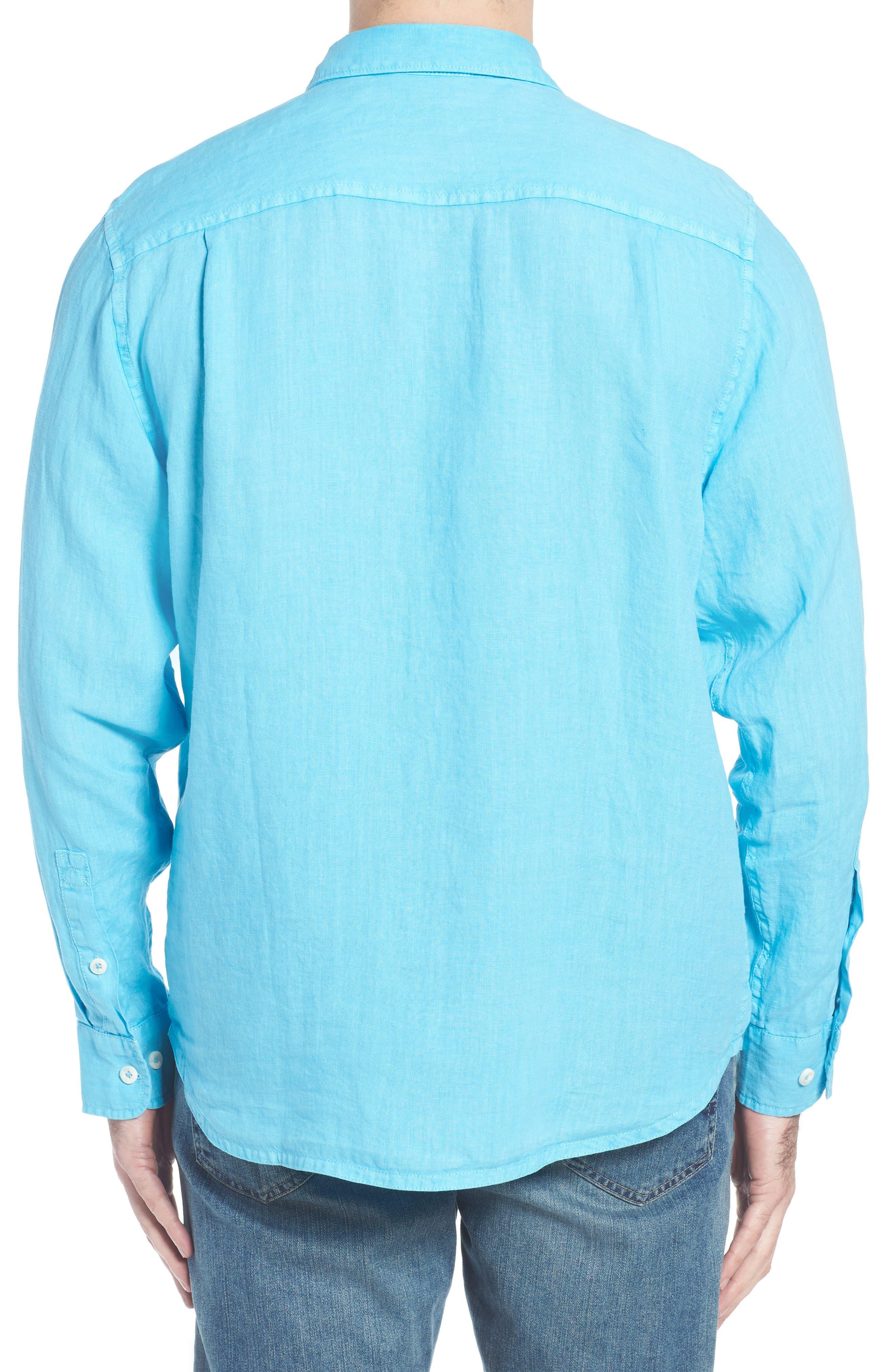 Seaspray Breezer Linen Shirt,                             Alternate thumbnail 7, color,