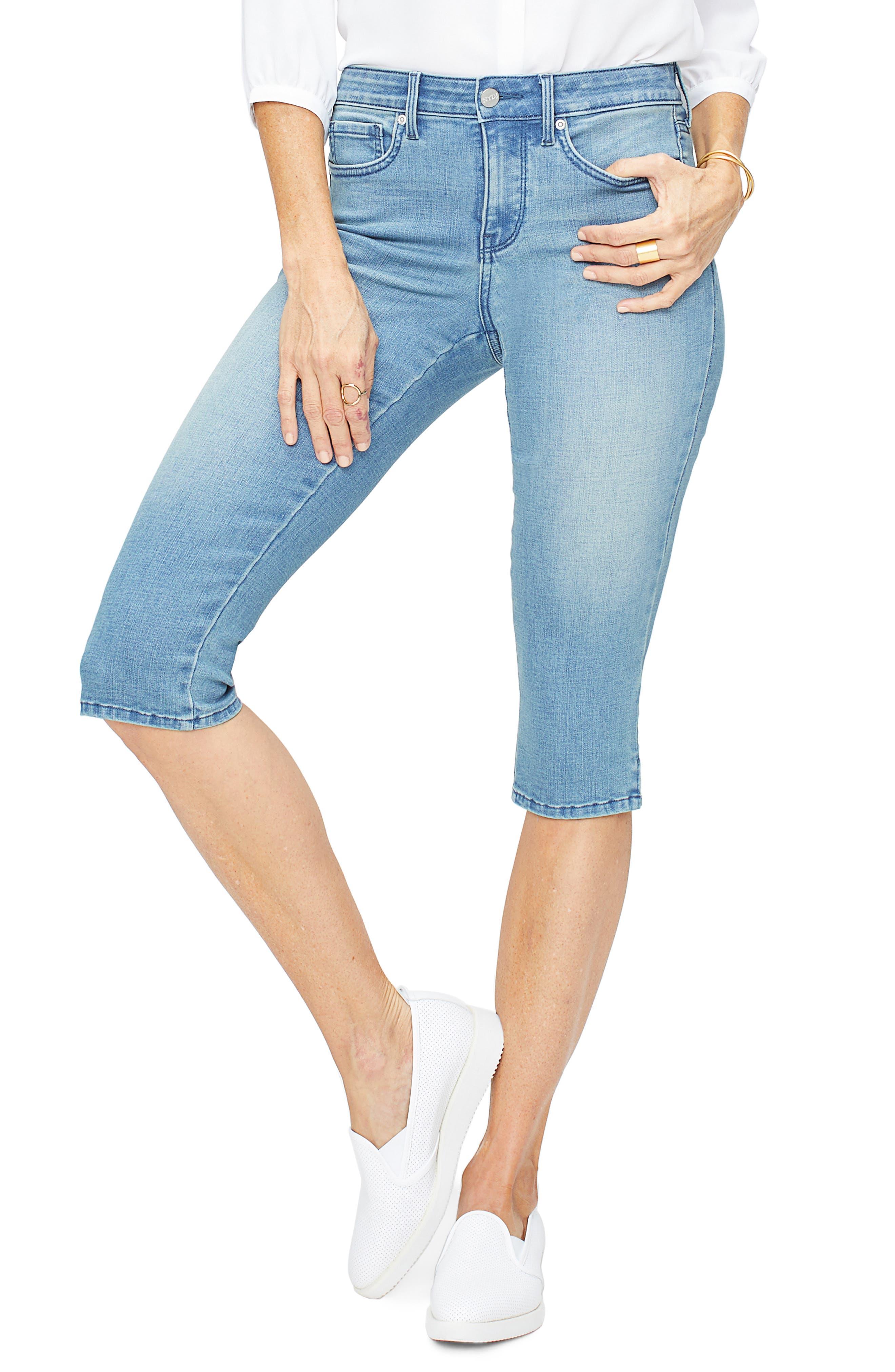 Nydj Skinny Capri Pants, Blue