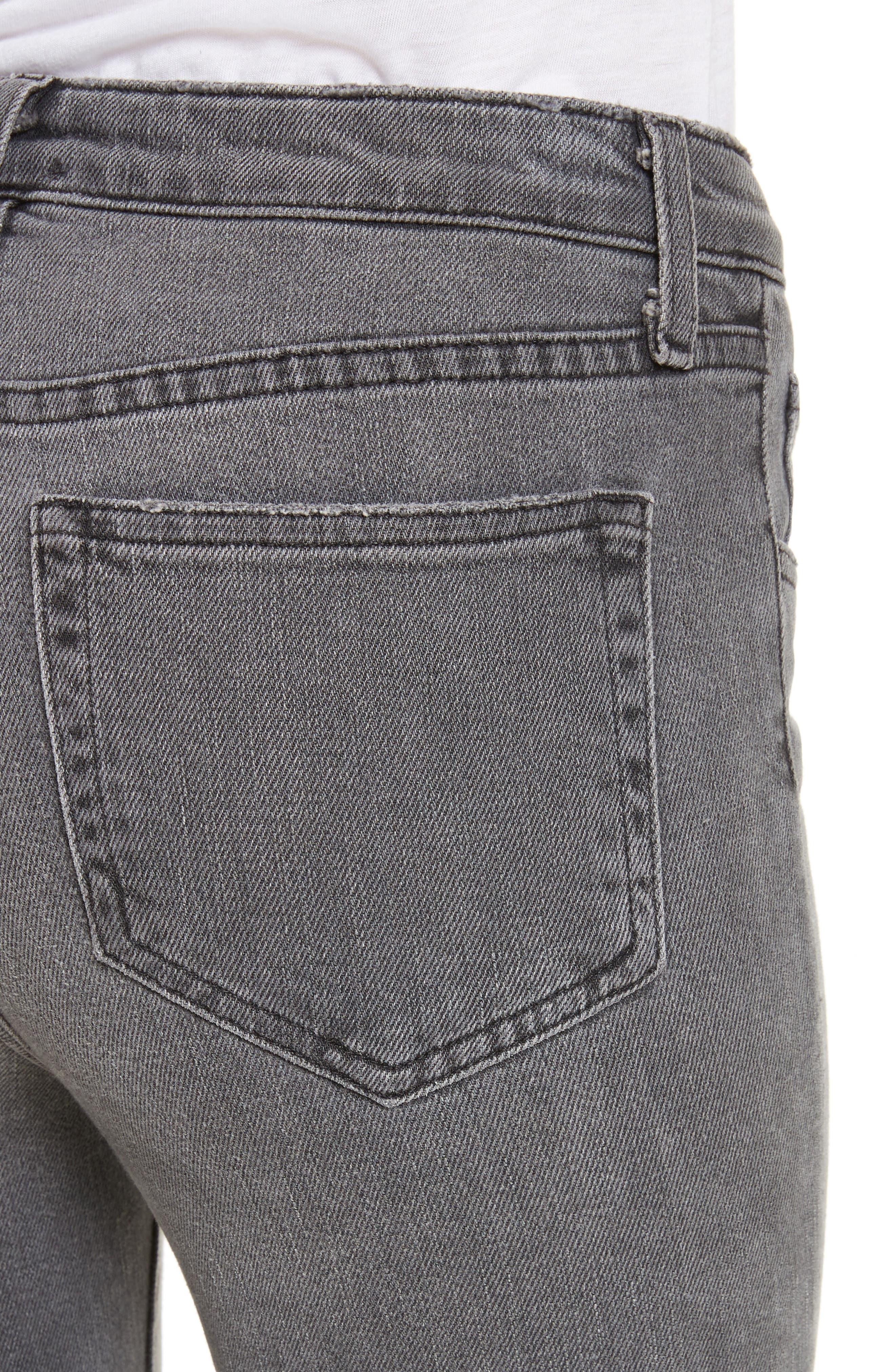 Serena High Waist Crop Flare Jeans,                             Alternate thumbnail 4, color,