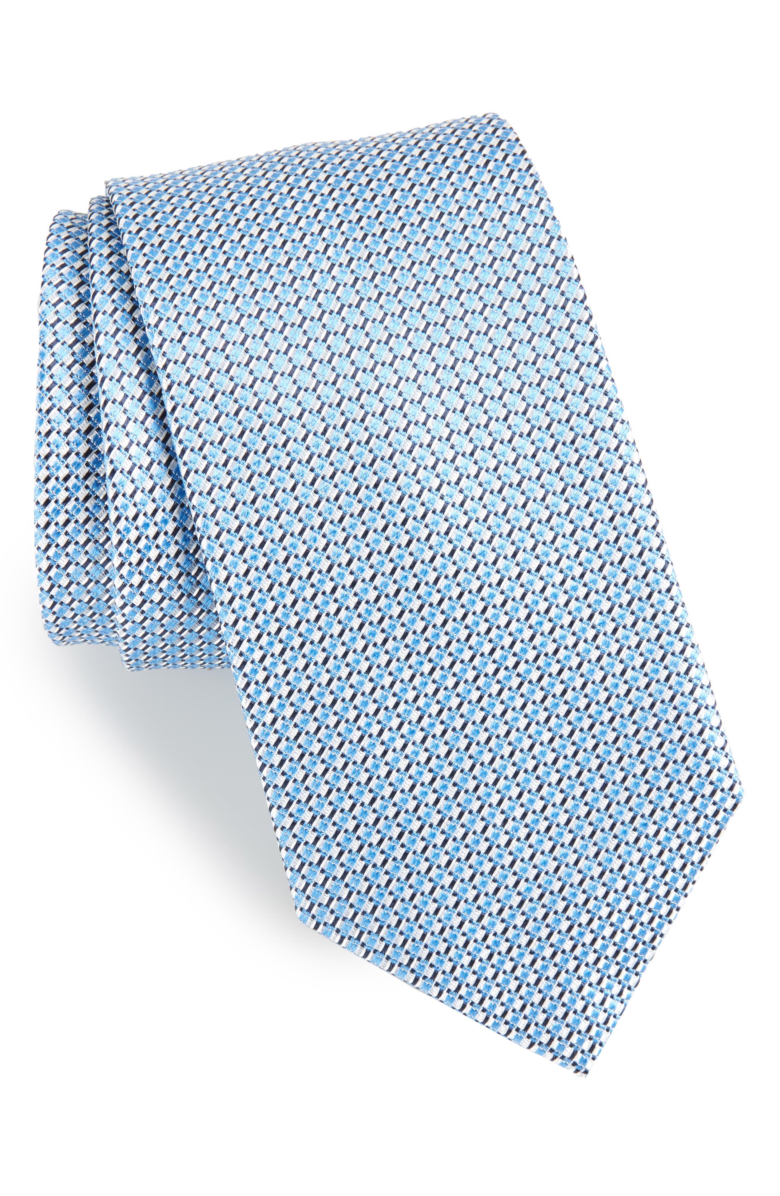Geometric Neat Silk Tie,                             Main thumbnail 1, color,                             420