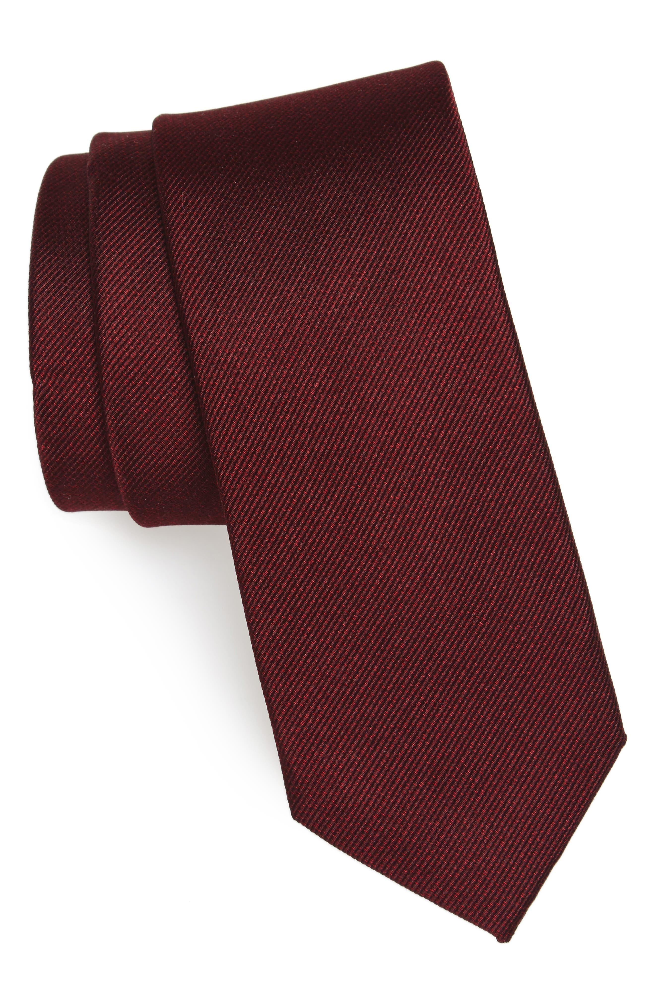 Mesa Solid Silk Tie,                             Main thumbnail 3, color,