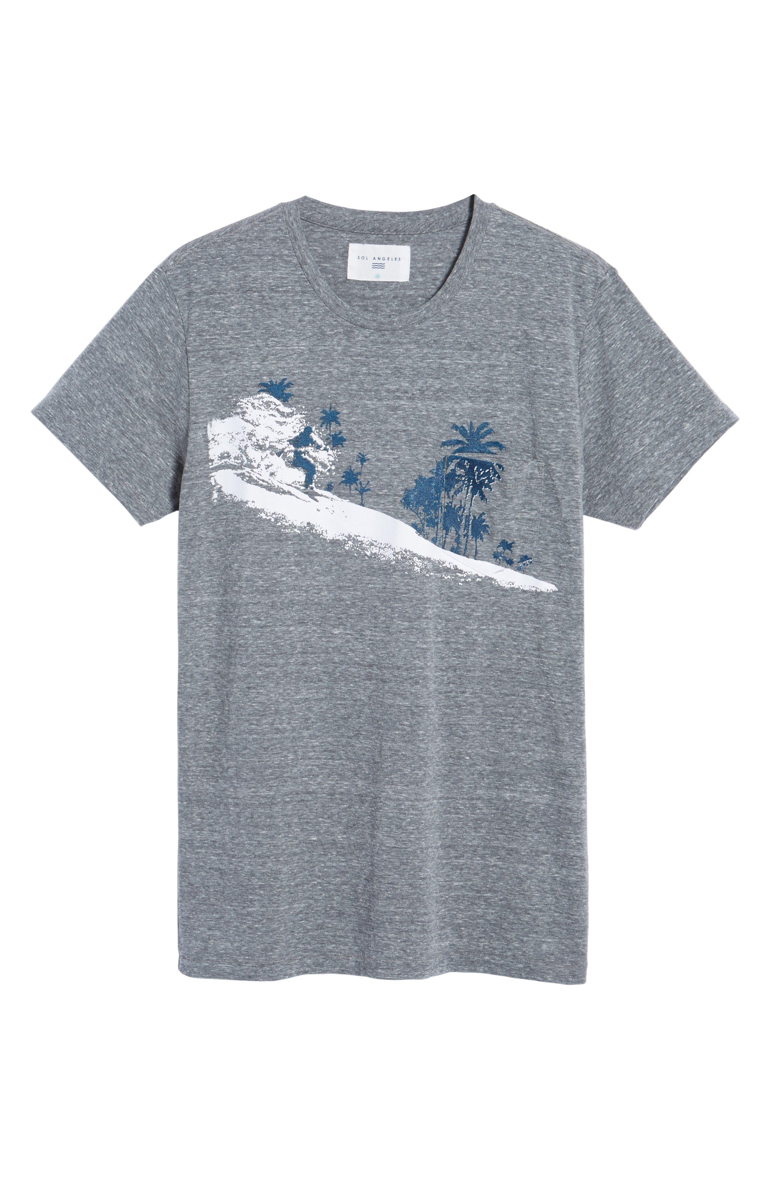 Palm Diamonds Pocket T-Shirt,                             Alternate thumbnail 6, color,