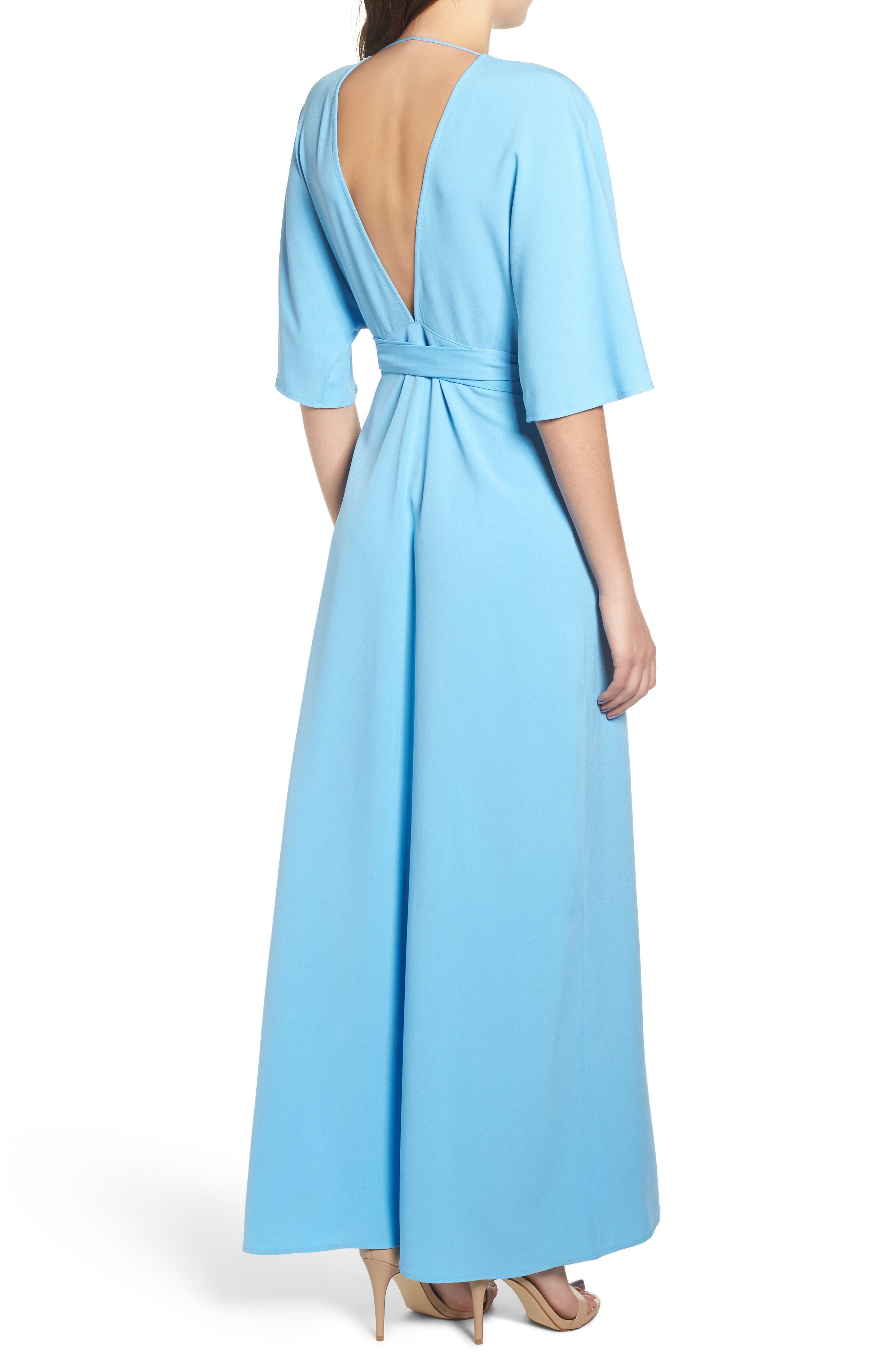 Kimono Maxi Dress,                             Alternate thumbnail 2, color,                             BLUE ALASKAN