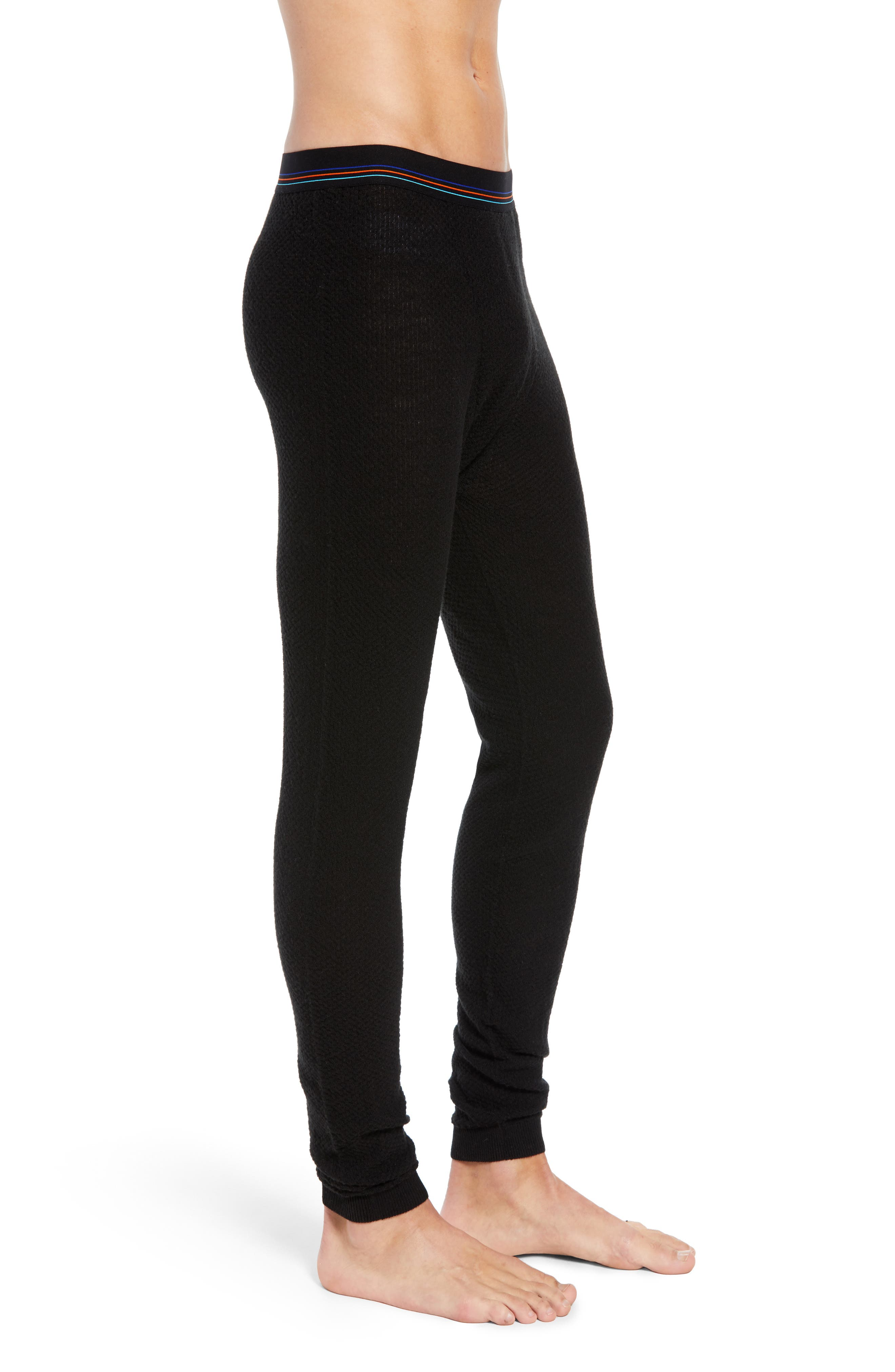 Capilene<sup>®</sup> Thermal Weight Base Layer Pants,                             Alternate thumbnail 3, color,                             BLACK
