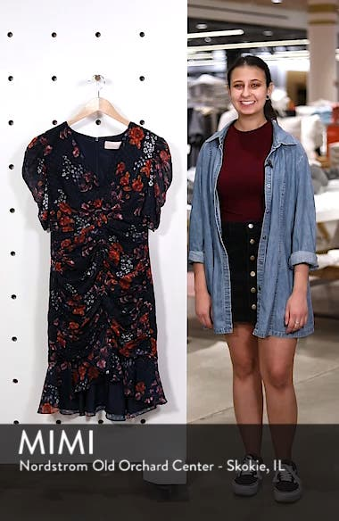 Need You Now Floral Ruched Dress, sales video thumbnail