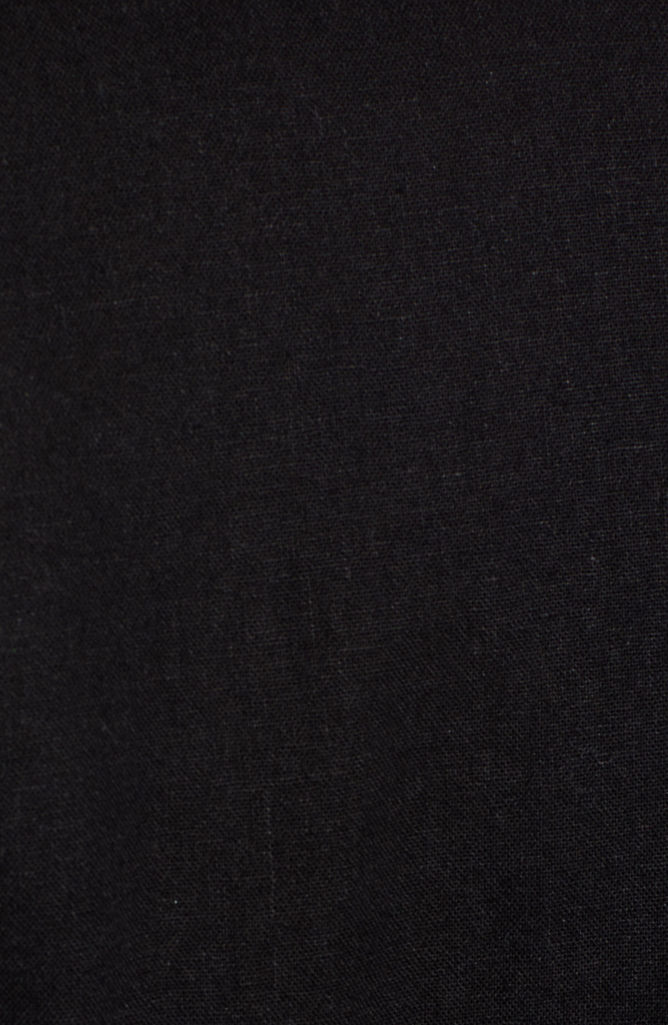 CASLON<SUP>®</SUP>,                             Faux Wrap Jumpsuit,                             Alternate thumbnail 6, color,                             BLACK