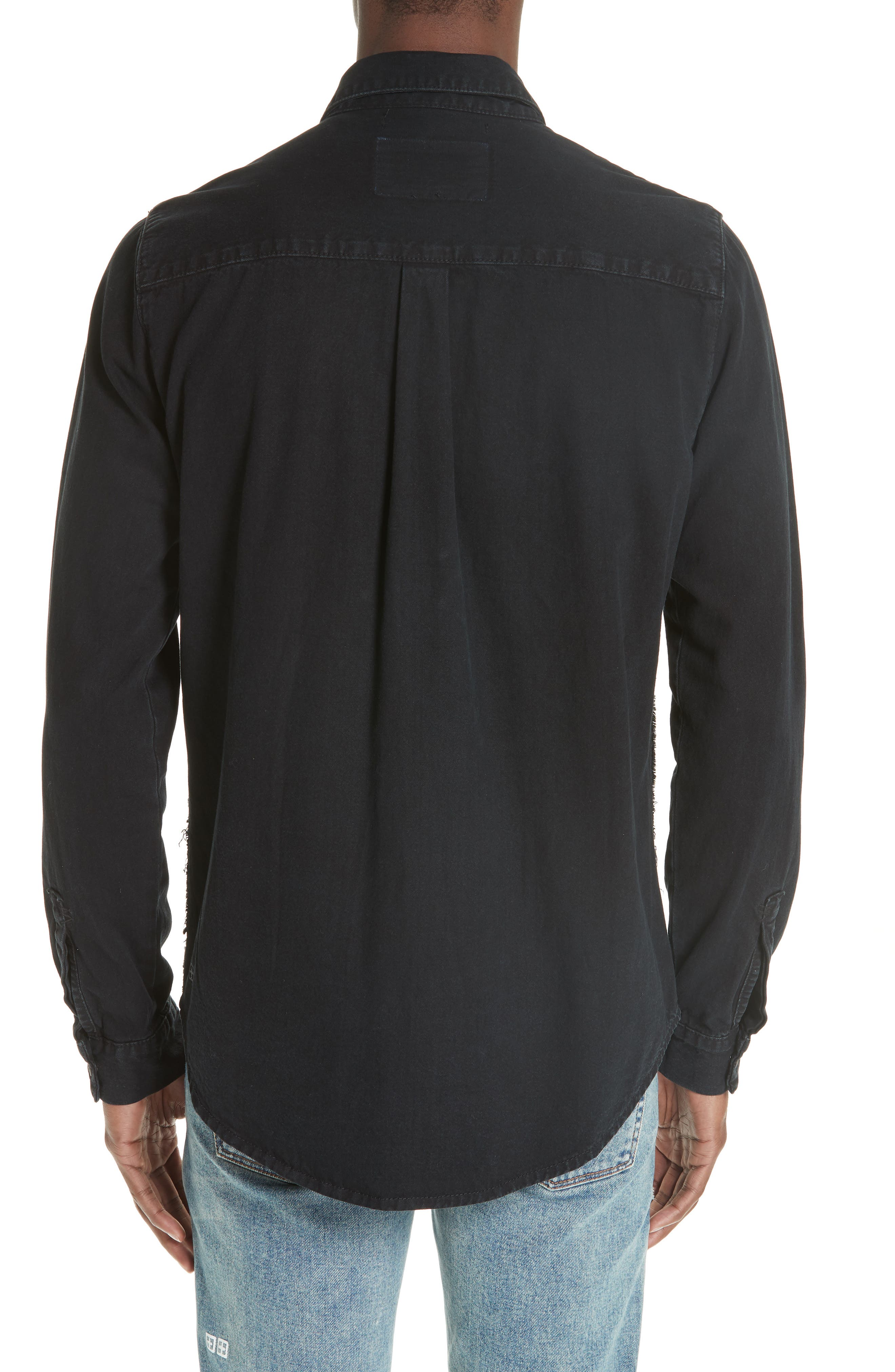 Frontier Work Shirt,                             Alternate thumbnail 3, color,                             BLACK