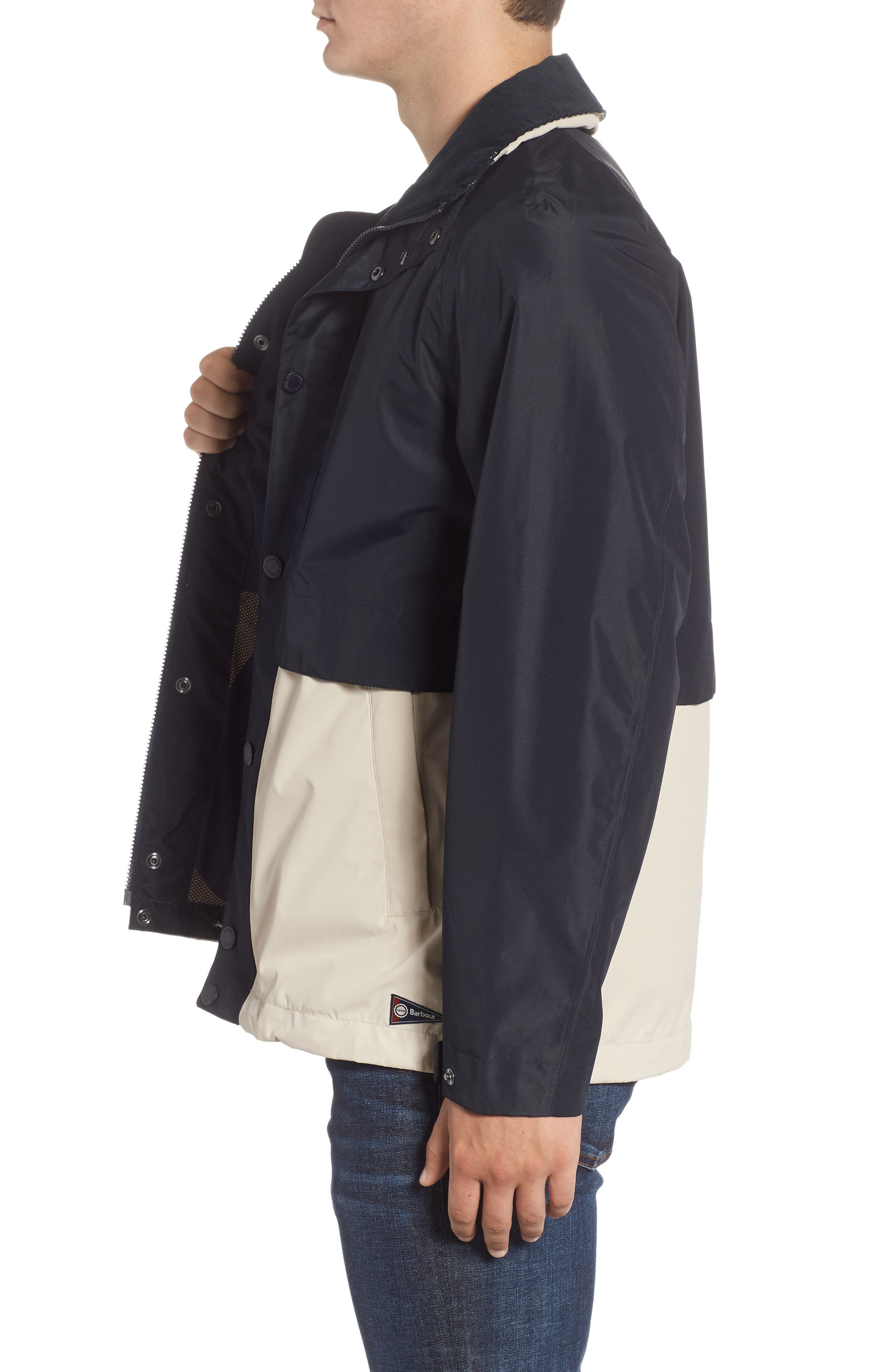 Nautical Dolan Waterproof Jacket,                             Alternate thumbnail 3, color,                             410