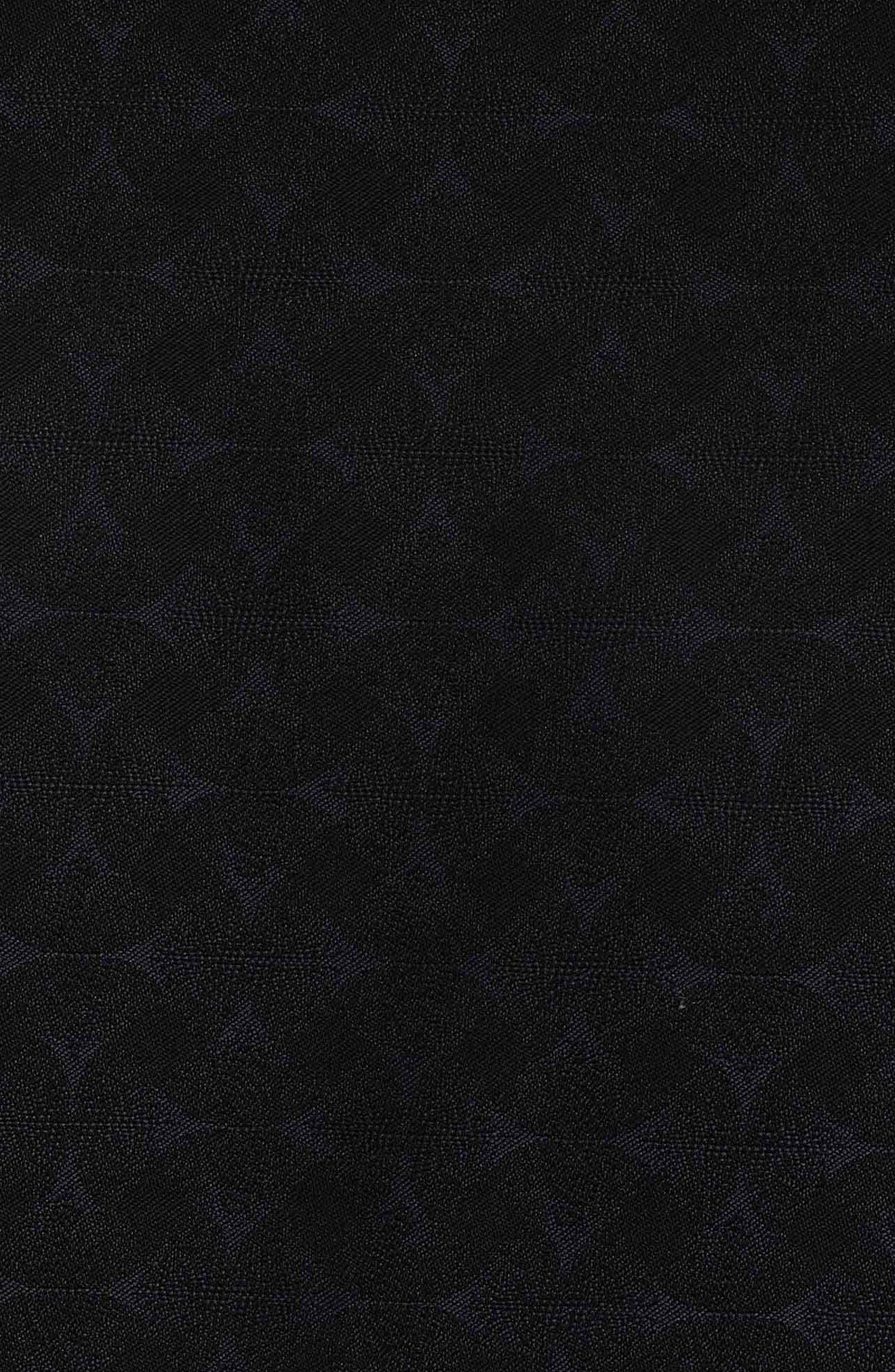 Diamante Classic Fit Print Sport Shirt,                             Alternate thumbnail 4, color,                             BLACK