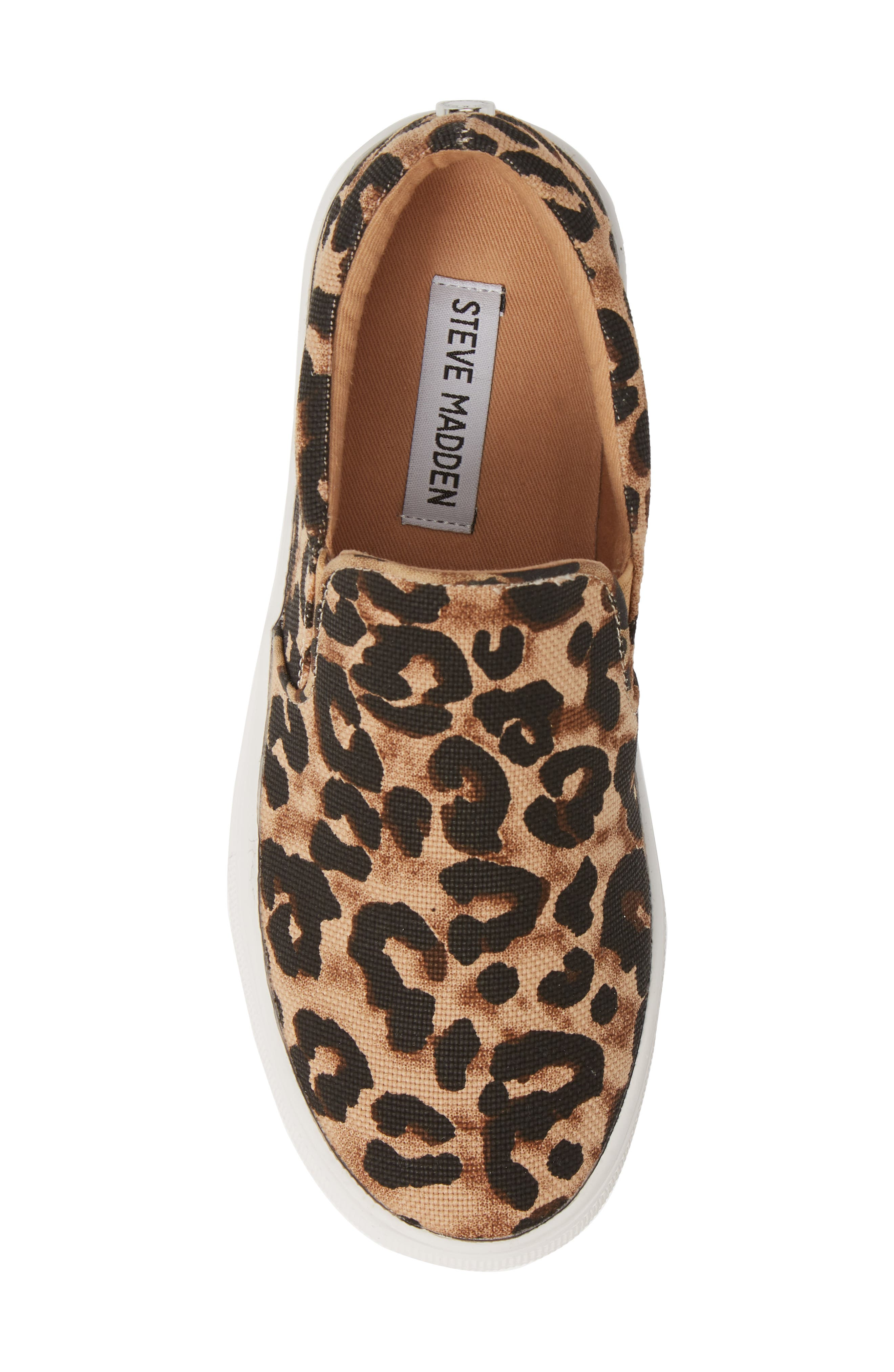 STEVE MADDEN,                             Gills Platform Slip-On Sneaker,                             Alternate thumbnail 5, color,                             LEOPARD PRINT