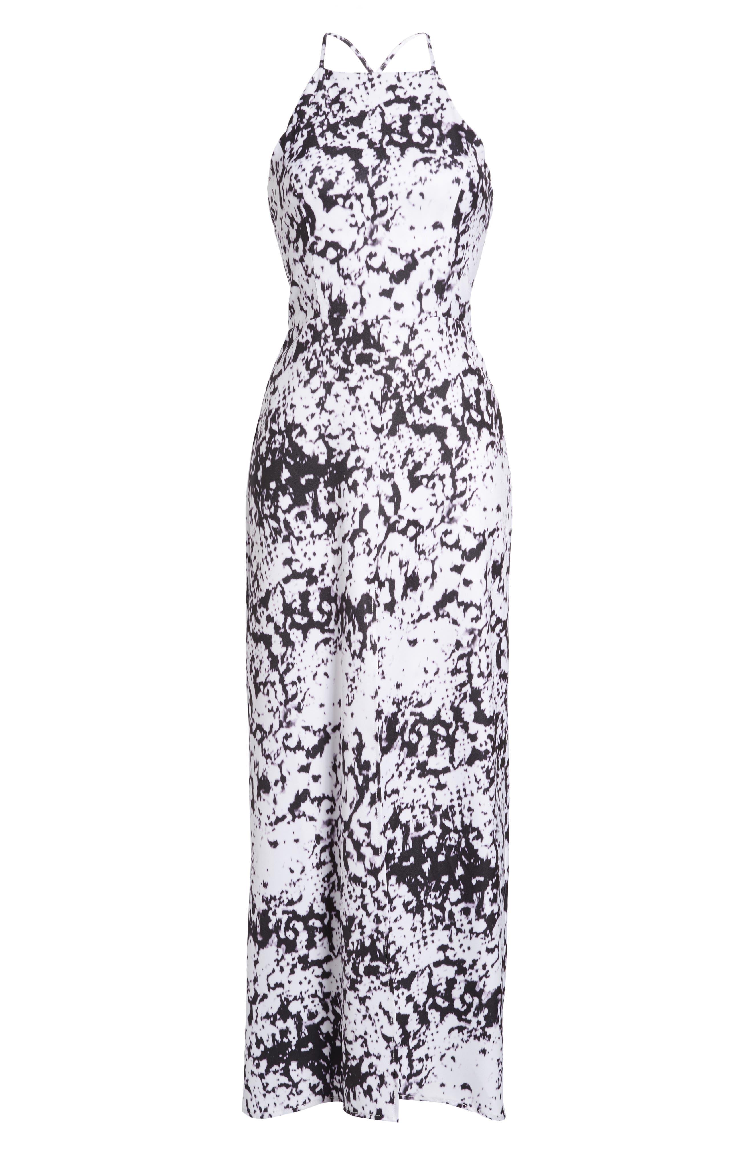 Halter Maxi Dress,                             Alternate thumbnail 6, color,                             101